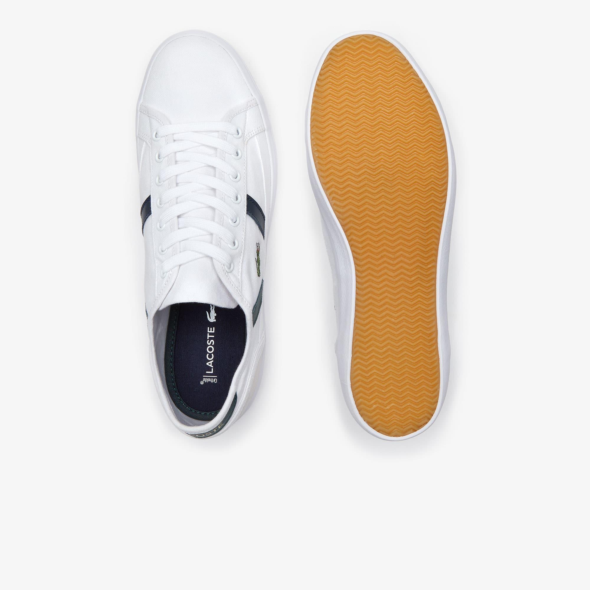 e1c4a73f19 Sideline-sneakers heren van canvas en leer