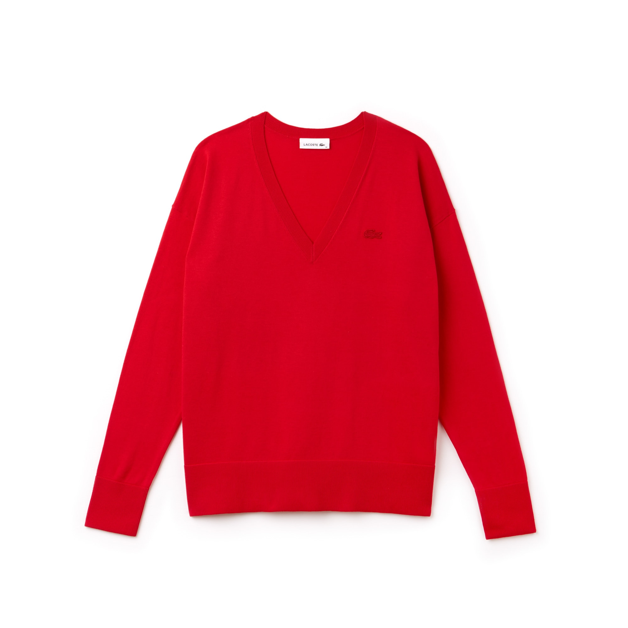 Sweatshirt dames V-hals katoenjersey