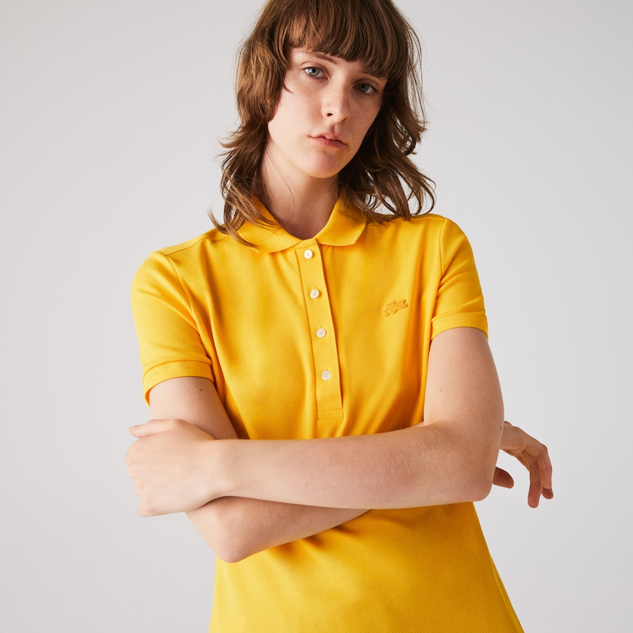 Lacoste-polo dames stretch van katoenpiqué