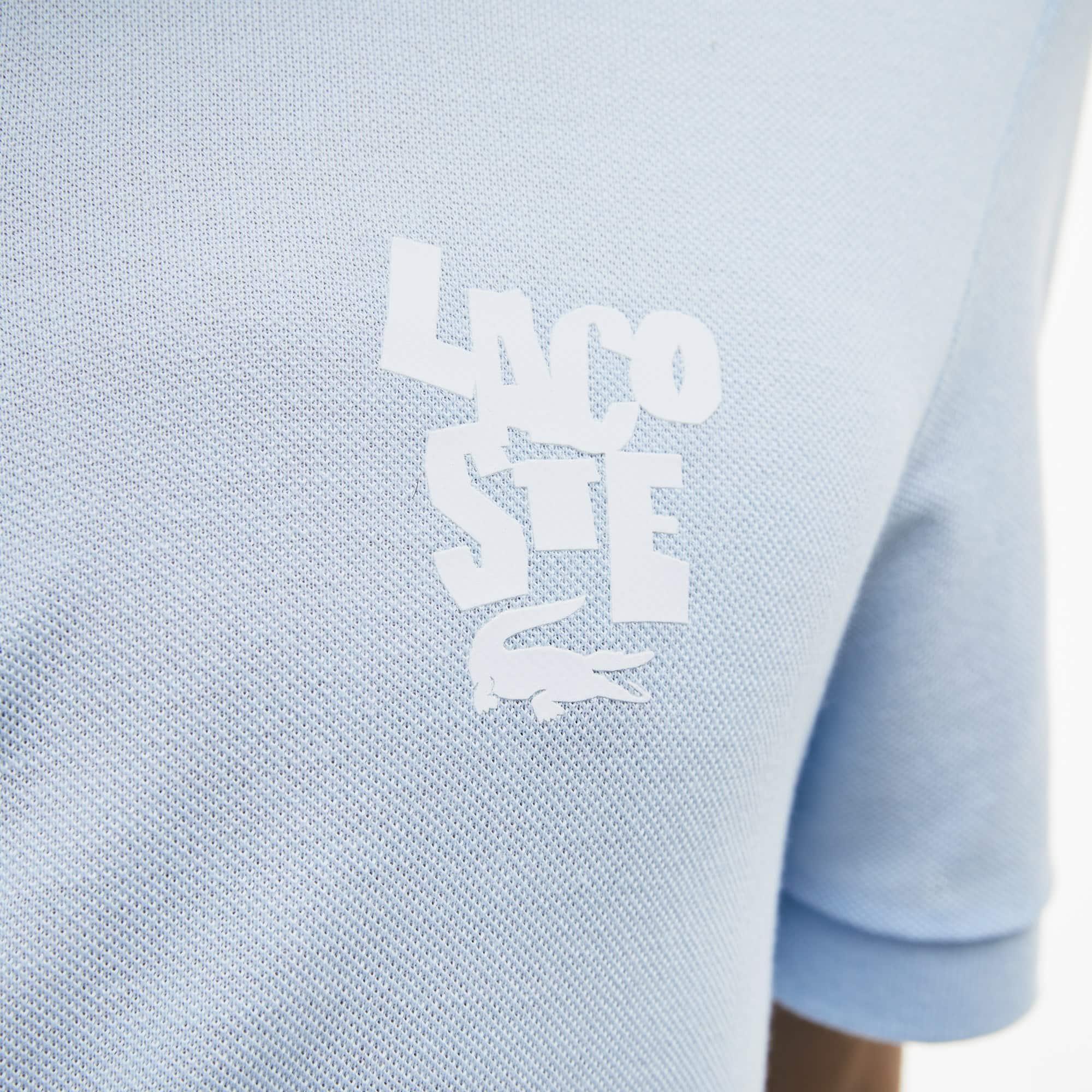Regular fit Lacoste polo van katoenen petit piqué met label