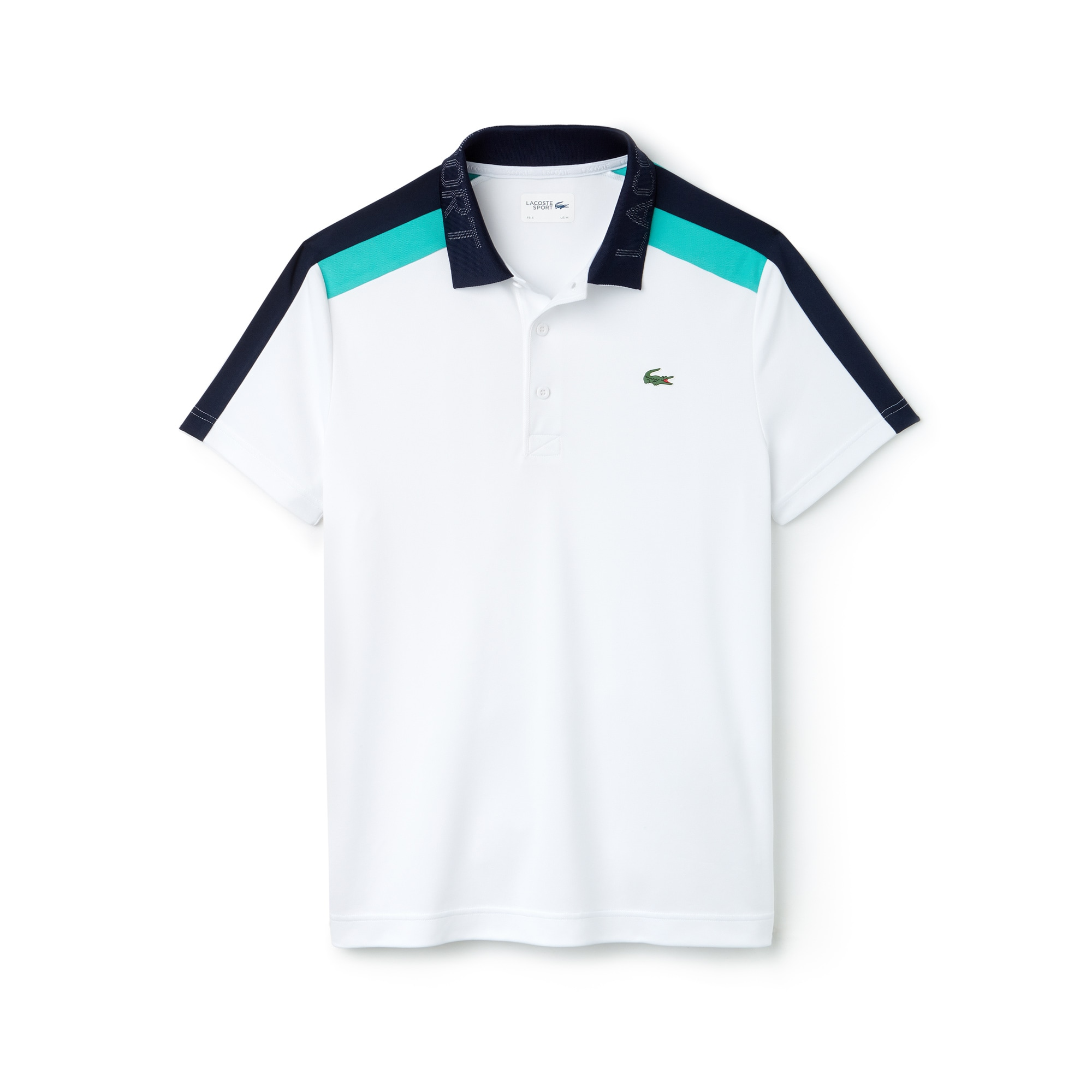 Men's Lacoste SPORT Contrast Band Technical Piqué Tennis Polo Shirt