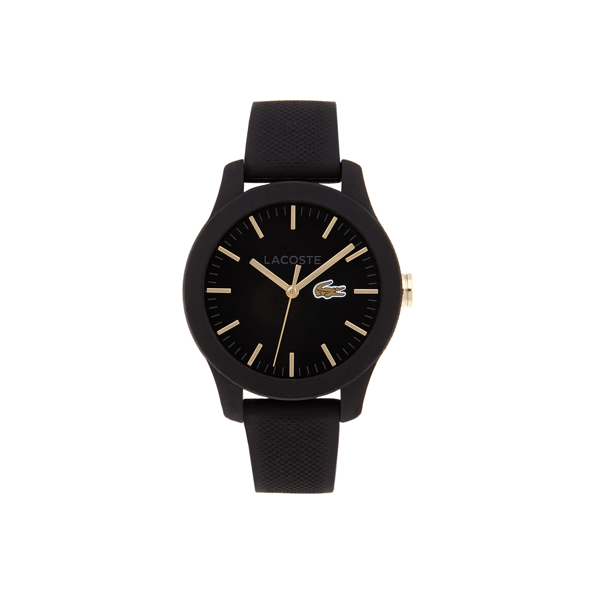 Men's Lacoste 12.12 Watch with Black Silicone Strap