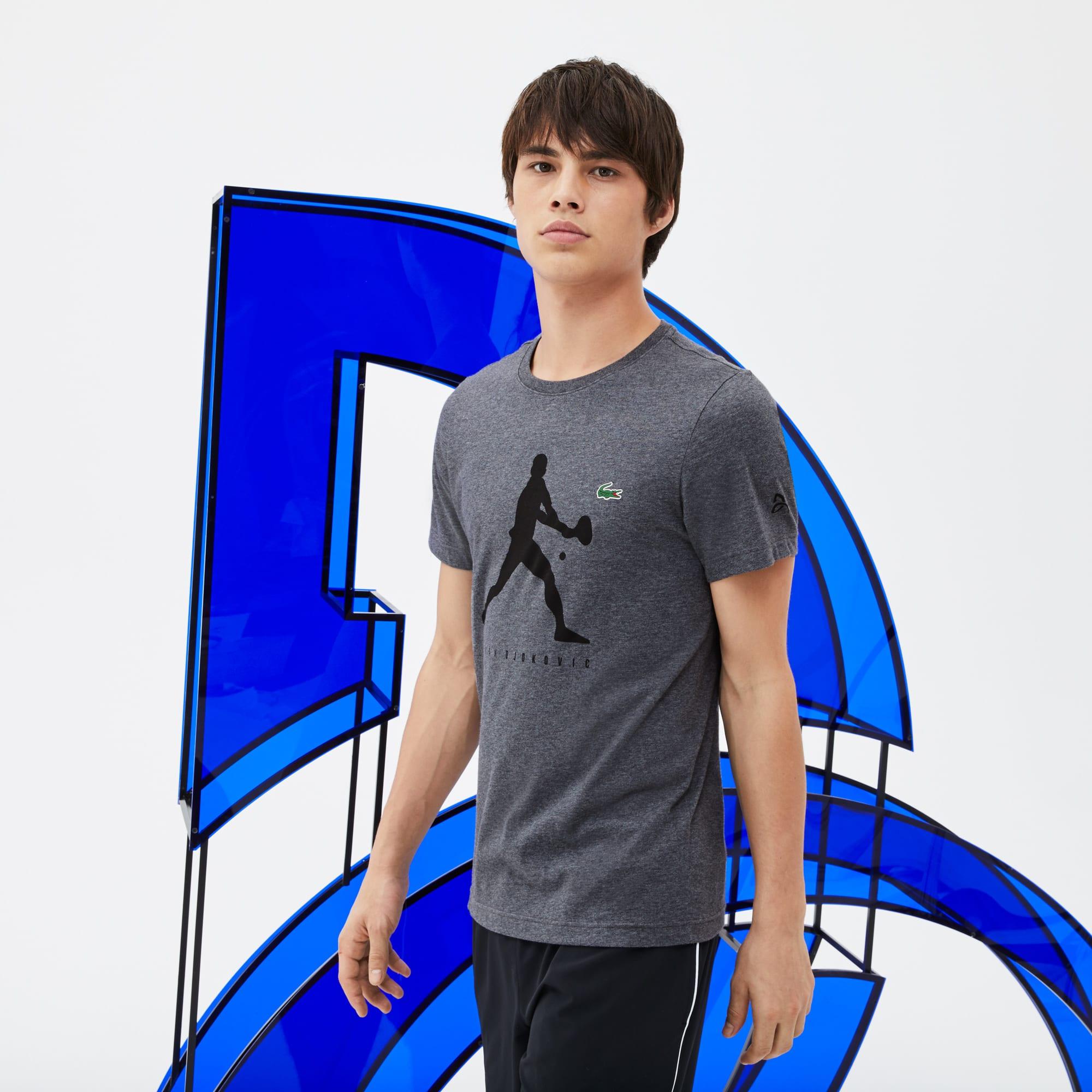 T-shirt Met Ronde Van Effen Jersey Met Opschrift - Collectie Support With Style