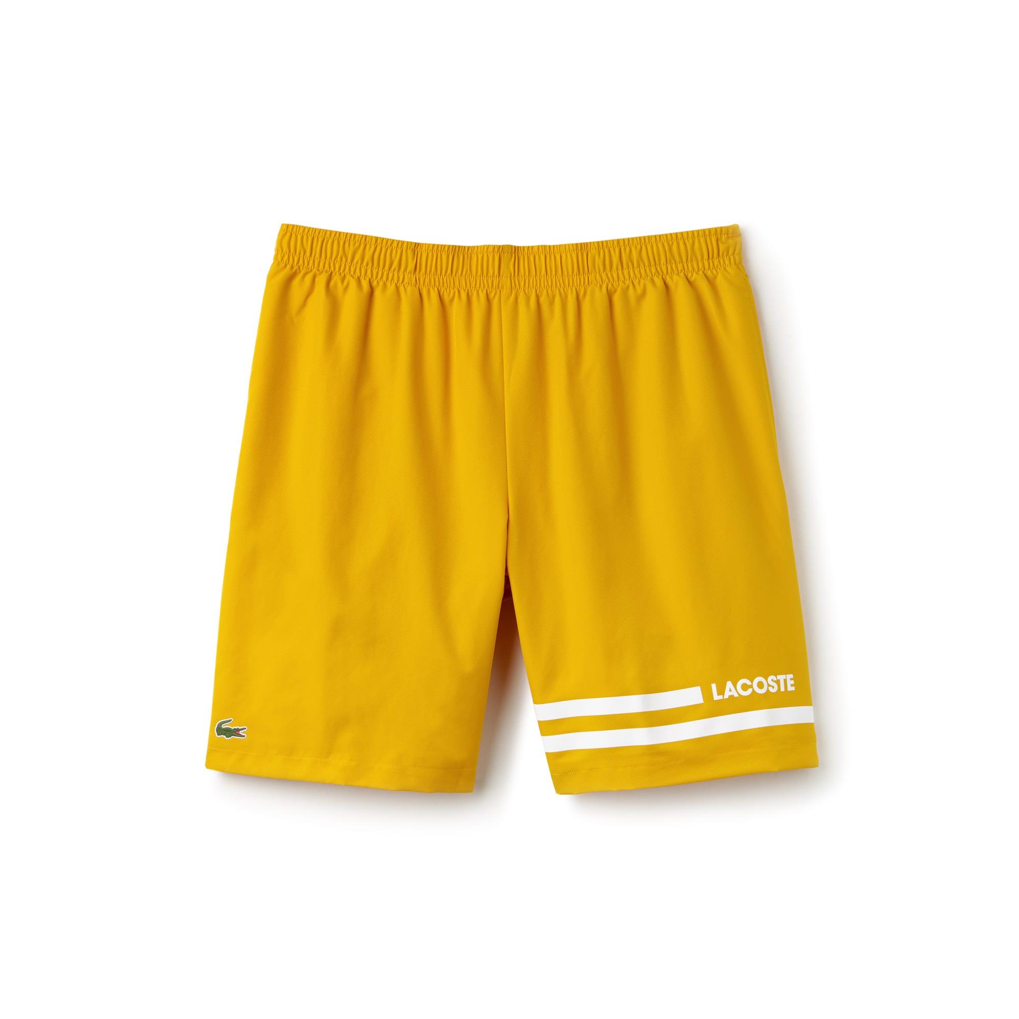 Lacoste SPORT Tennis-short heren taf met contrasterende strepen