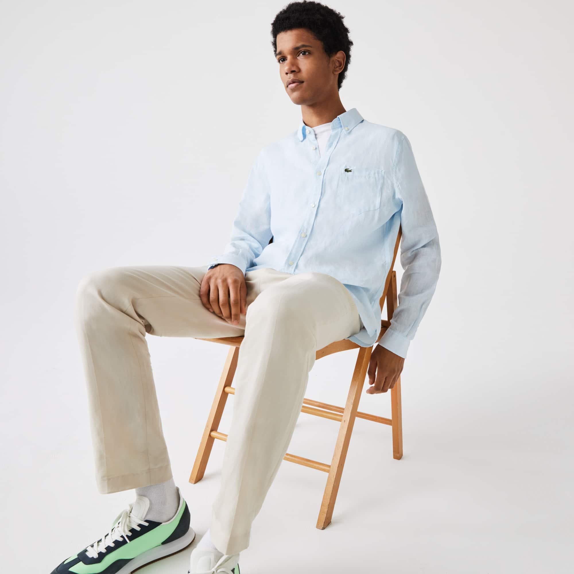 Shirt heren regular fit linnen