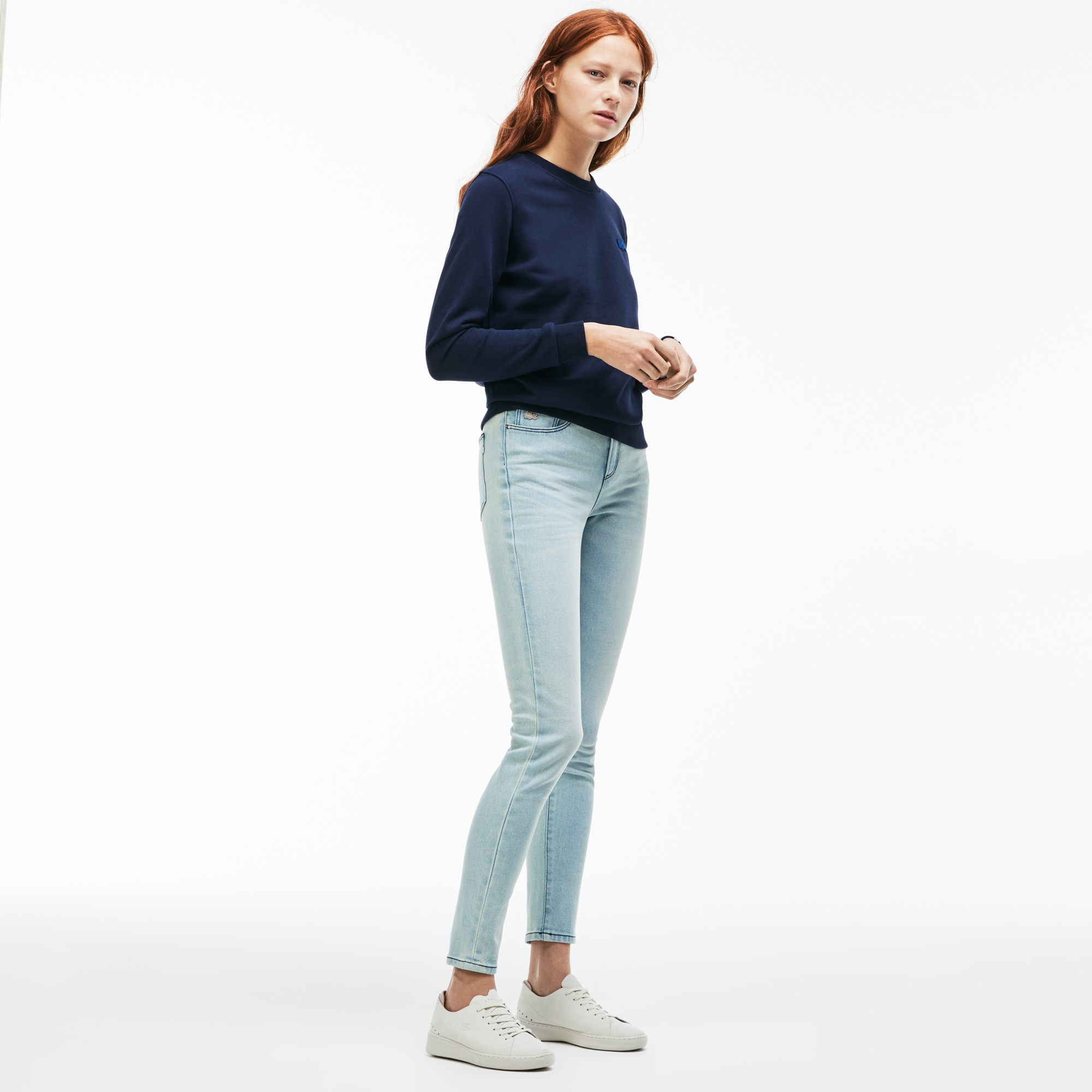 Lacoste LIVE-jeans dames stretch-katoendenim met 5 zakken