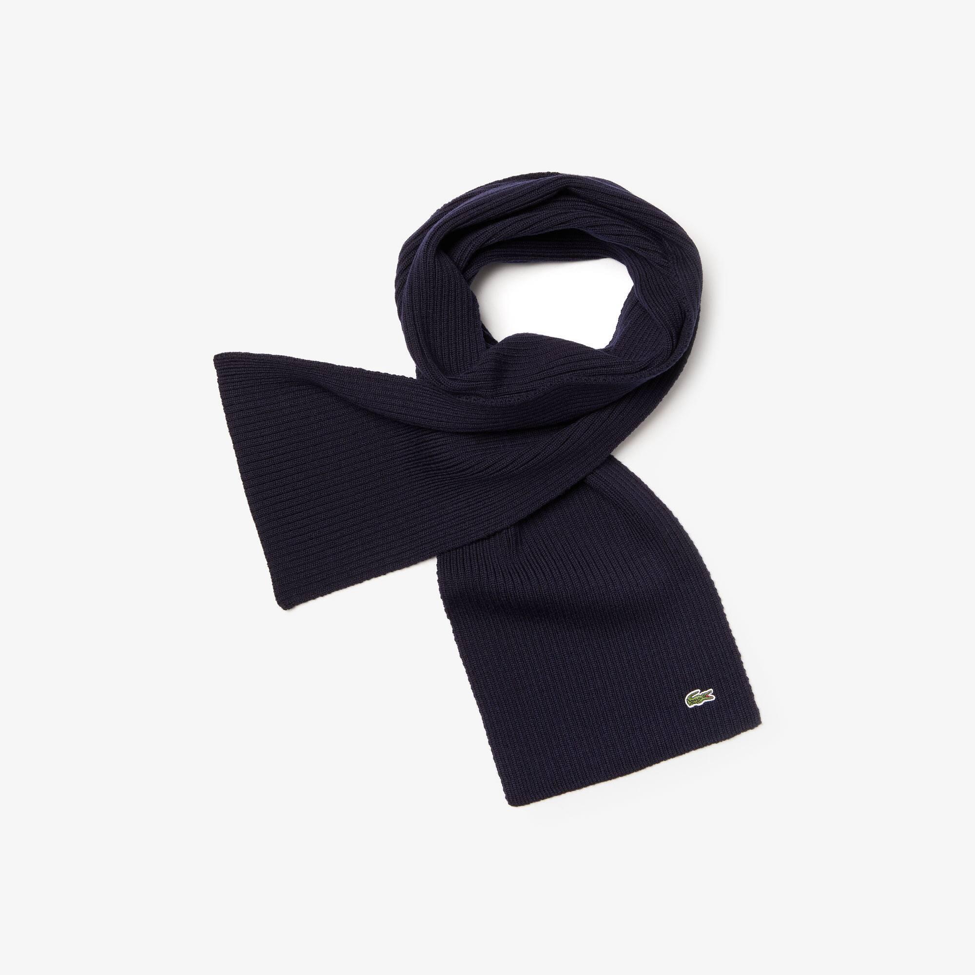 Sjaal van geribde mouliné wol