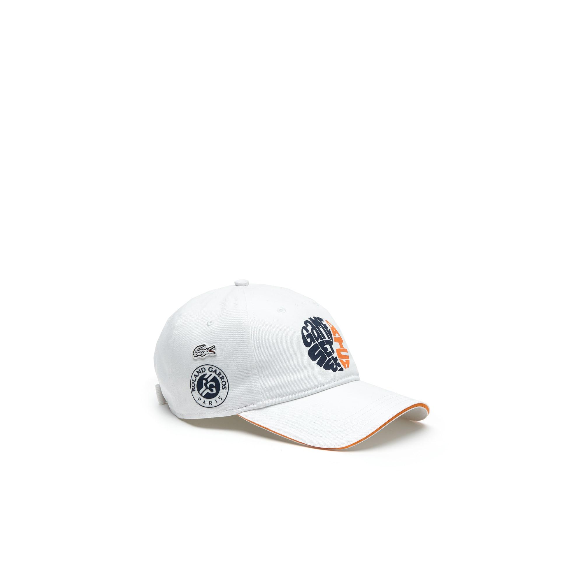 Lacoste SPORT pet van gabardine met Édition Roland Garros-logo