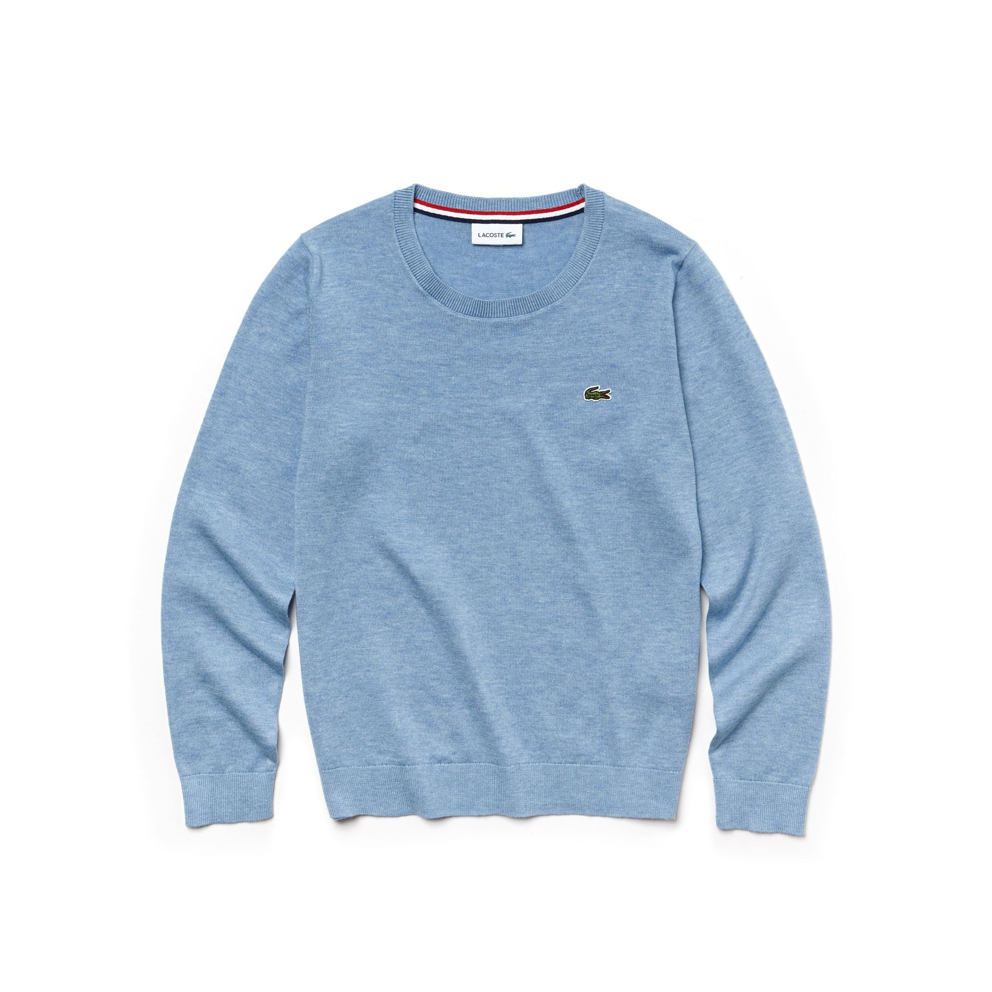 Sweater heren ronde hals katoenjersey