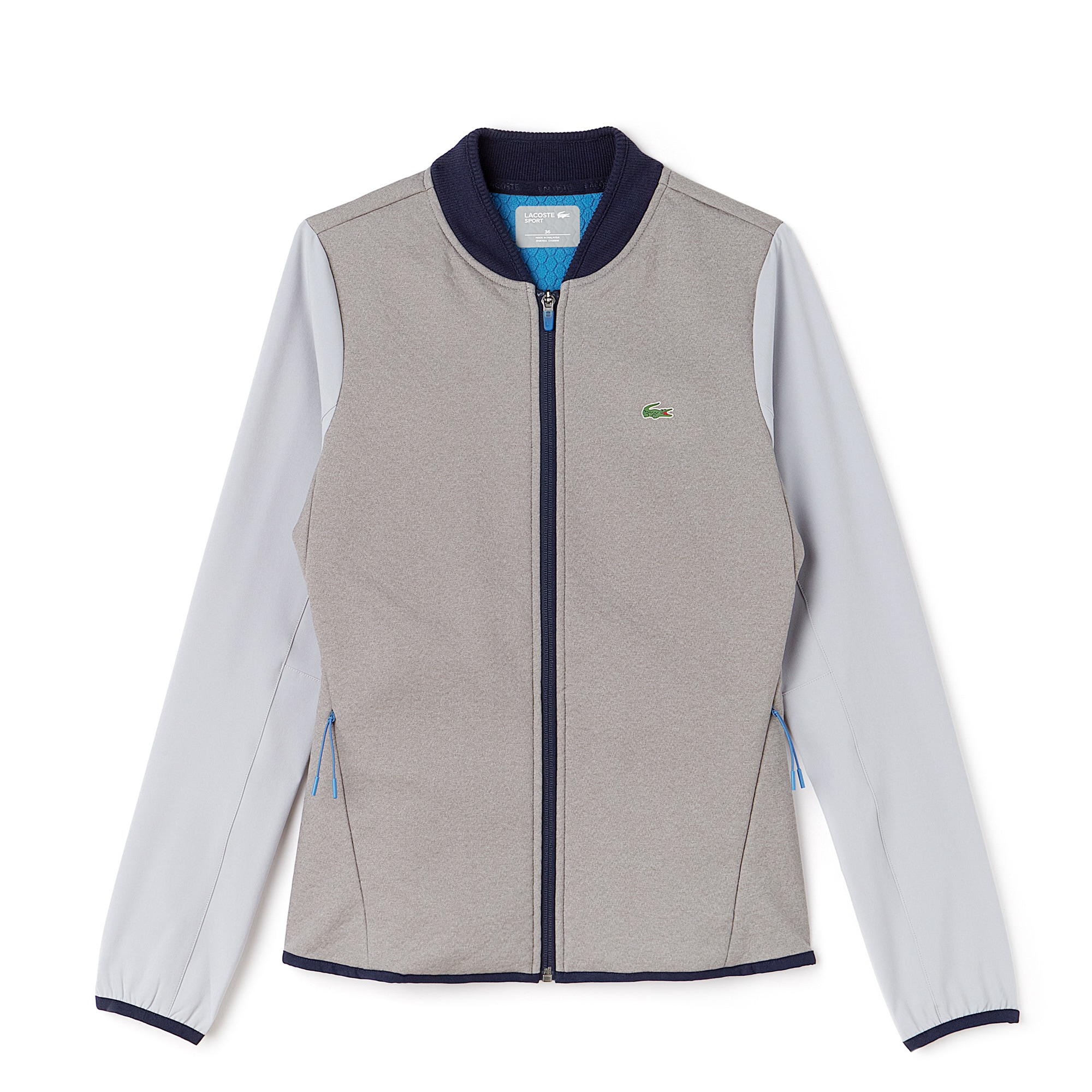 Lacoste SPORT Golf-sweatshirt dames met waterbestendige middenlaag en rits
