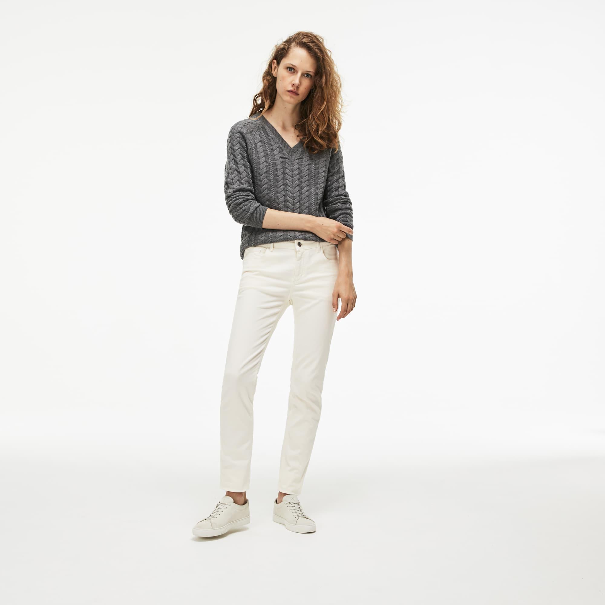 Jeans Dames Slim Fit Katoendenim met Stretch