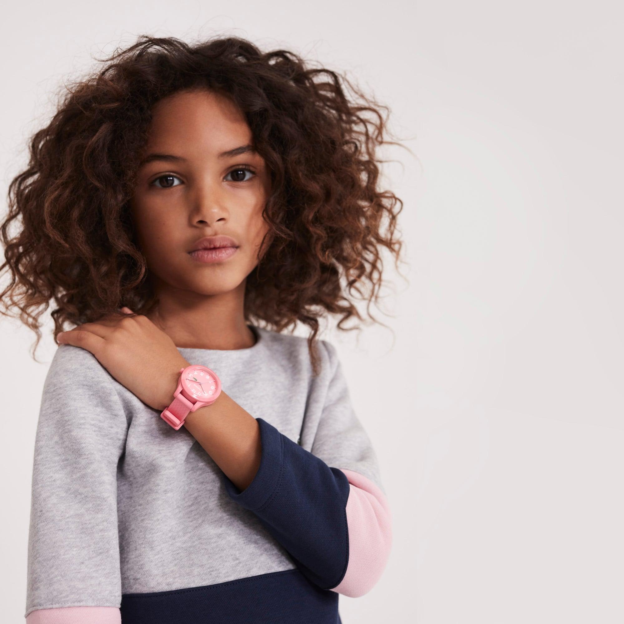 Kinderen Lacoste 12.12 Horloge met Rozen Siliconen Armband
