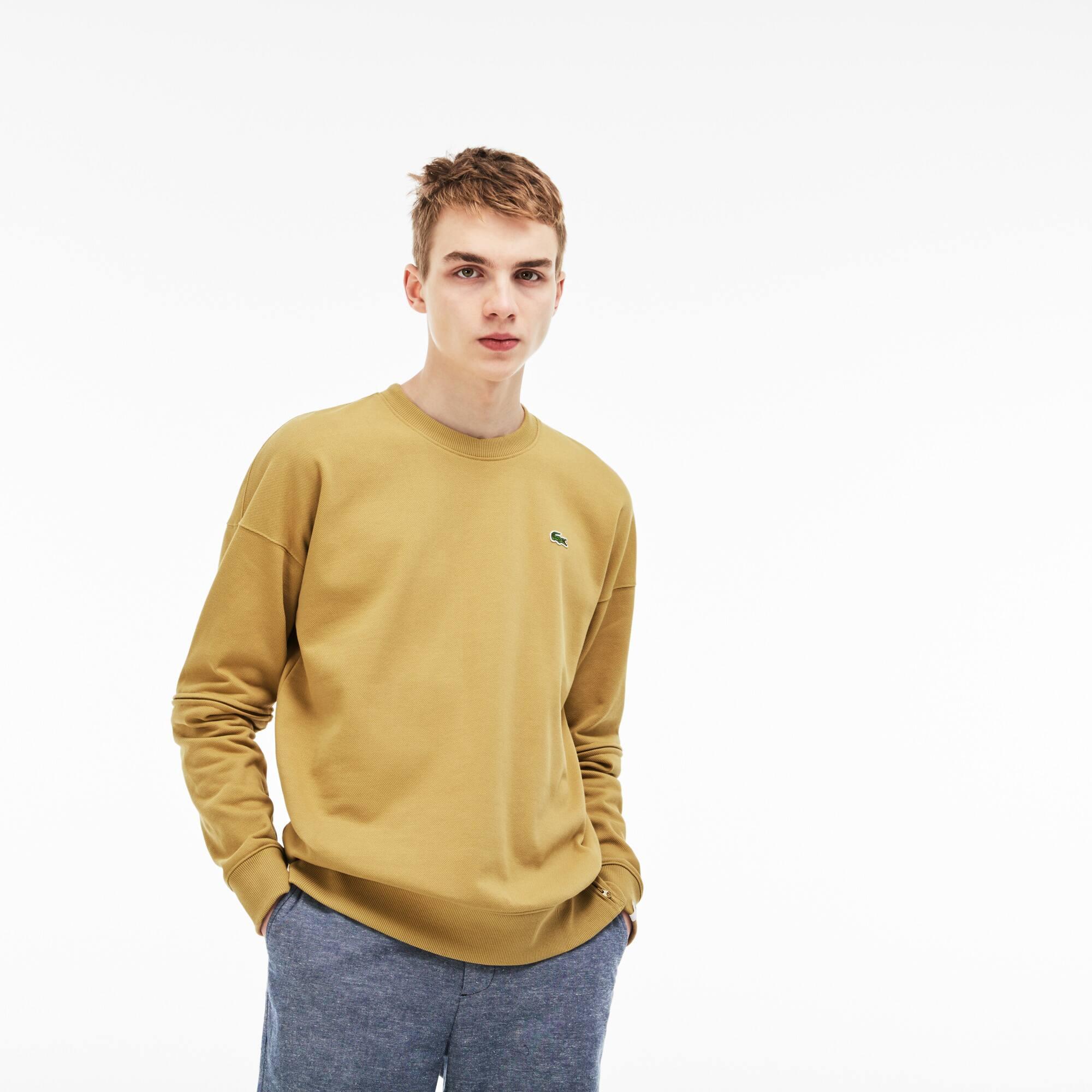 Lacoste LIVE-sweatshirt heren losse pasvorm fleecepiqué