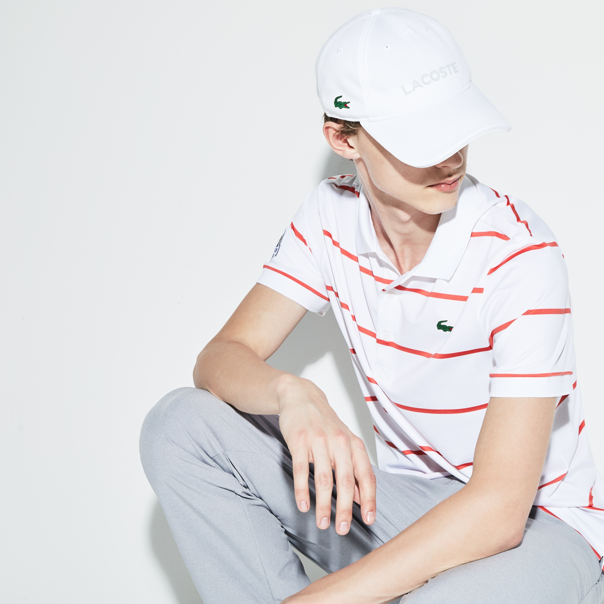 Golf Lacoste SPORT Édition Ryder Cup pet van technisch piqué