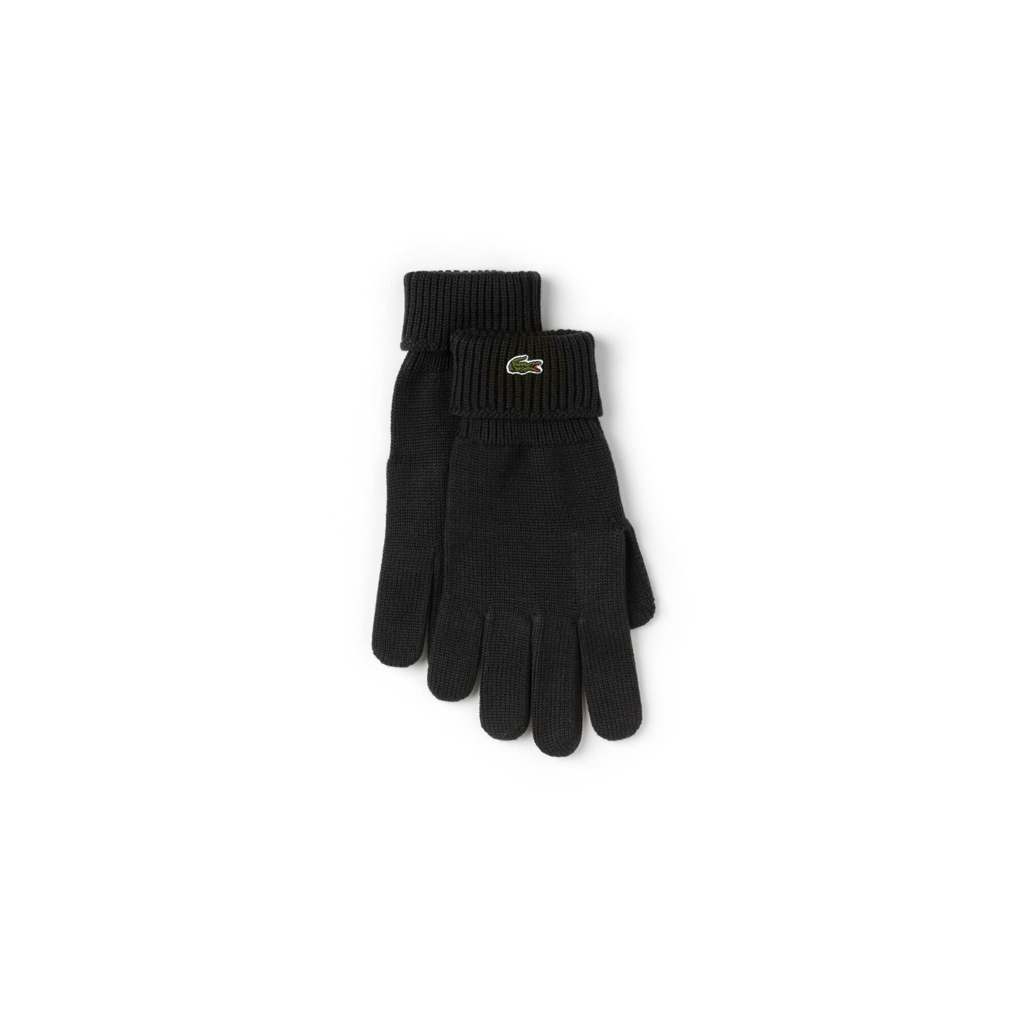 Handschoenen van effen woljersey