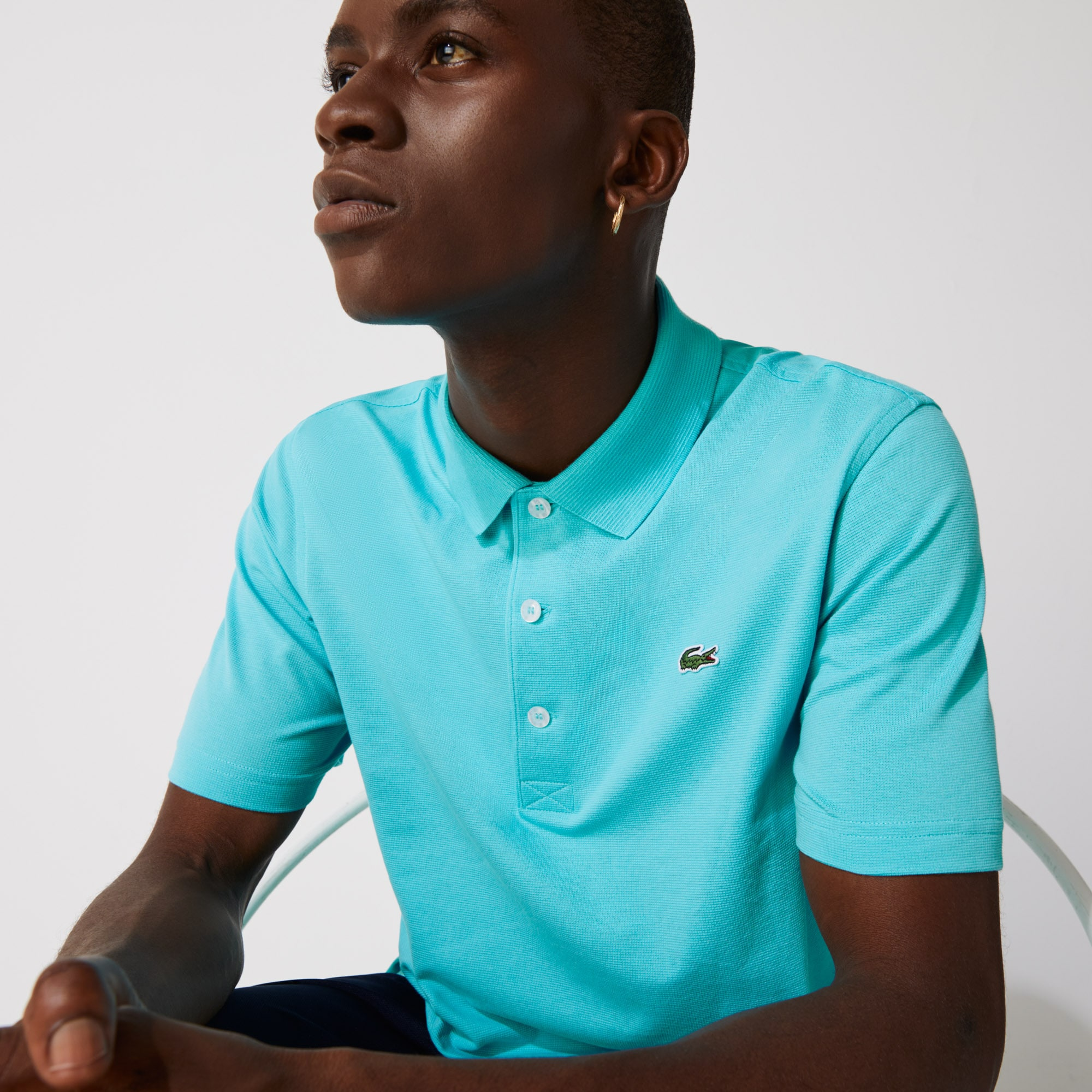 Lacoste SPORT-polo Heren Tennis Regular Fit in Ultralicht Breiwerk
