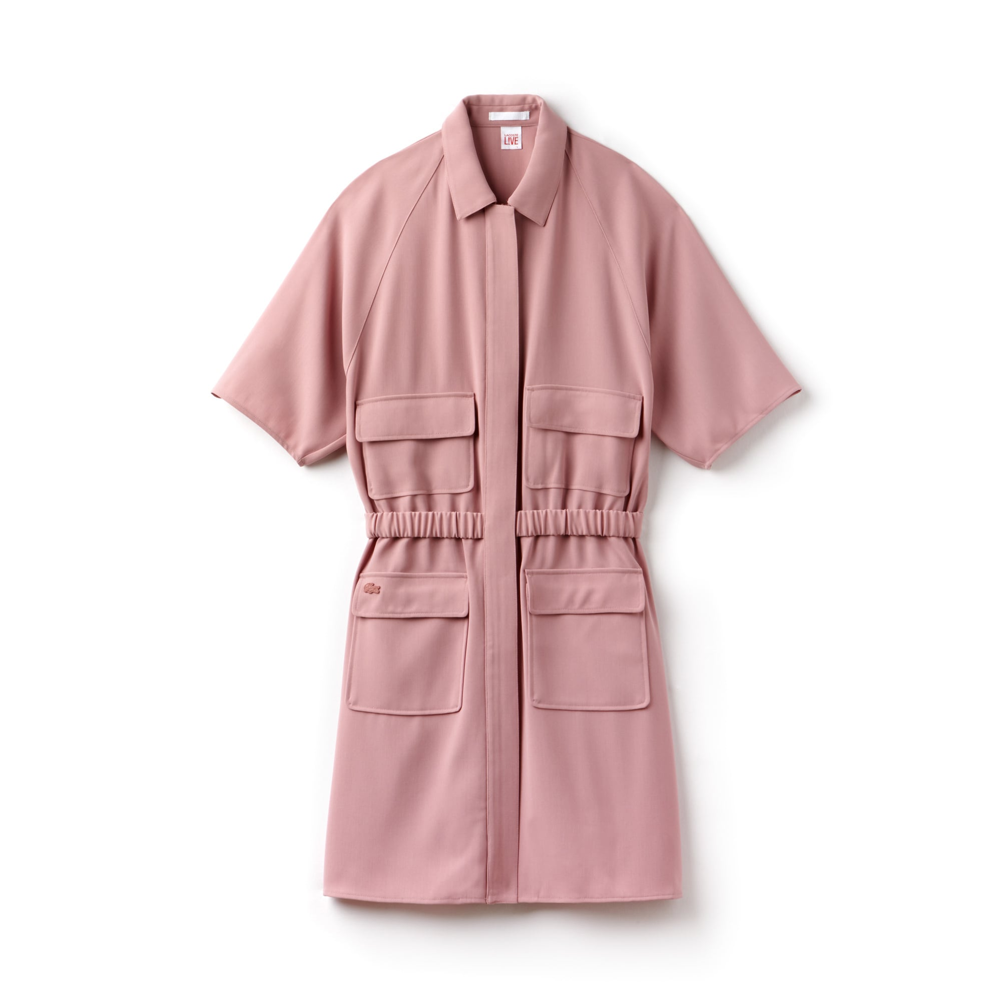 Lacoste LIVE-jurk dames crêpe met rits