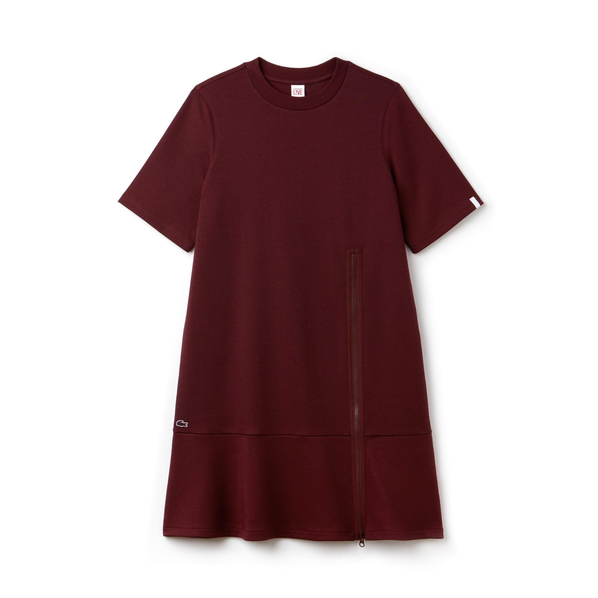 Lacoste LIVE-sweatshirtjurk dames interlock met rits