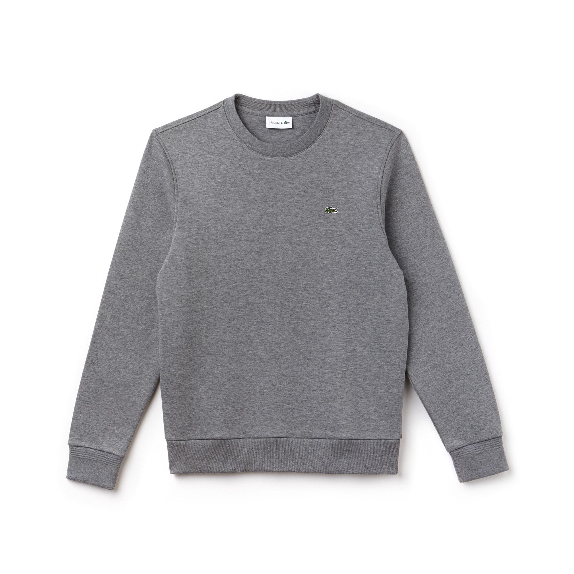 Sweatshirt heren ronde hals fleece met contrasterende accenten