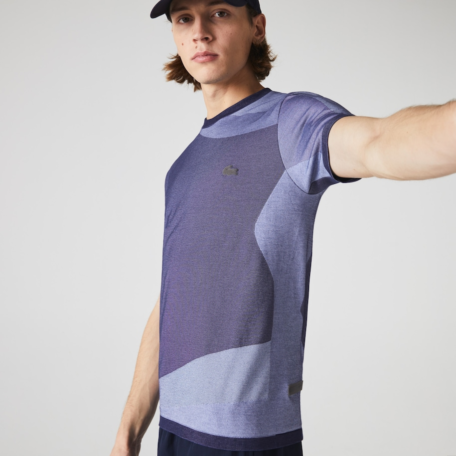 Lacoste Motion-T-shirt heren ultralicht met colorblock