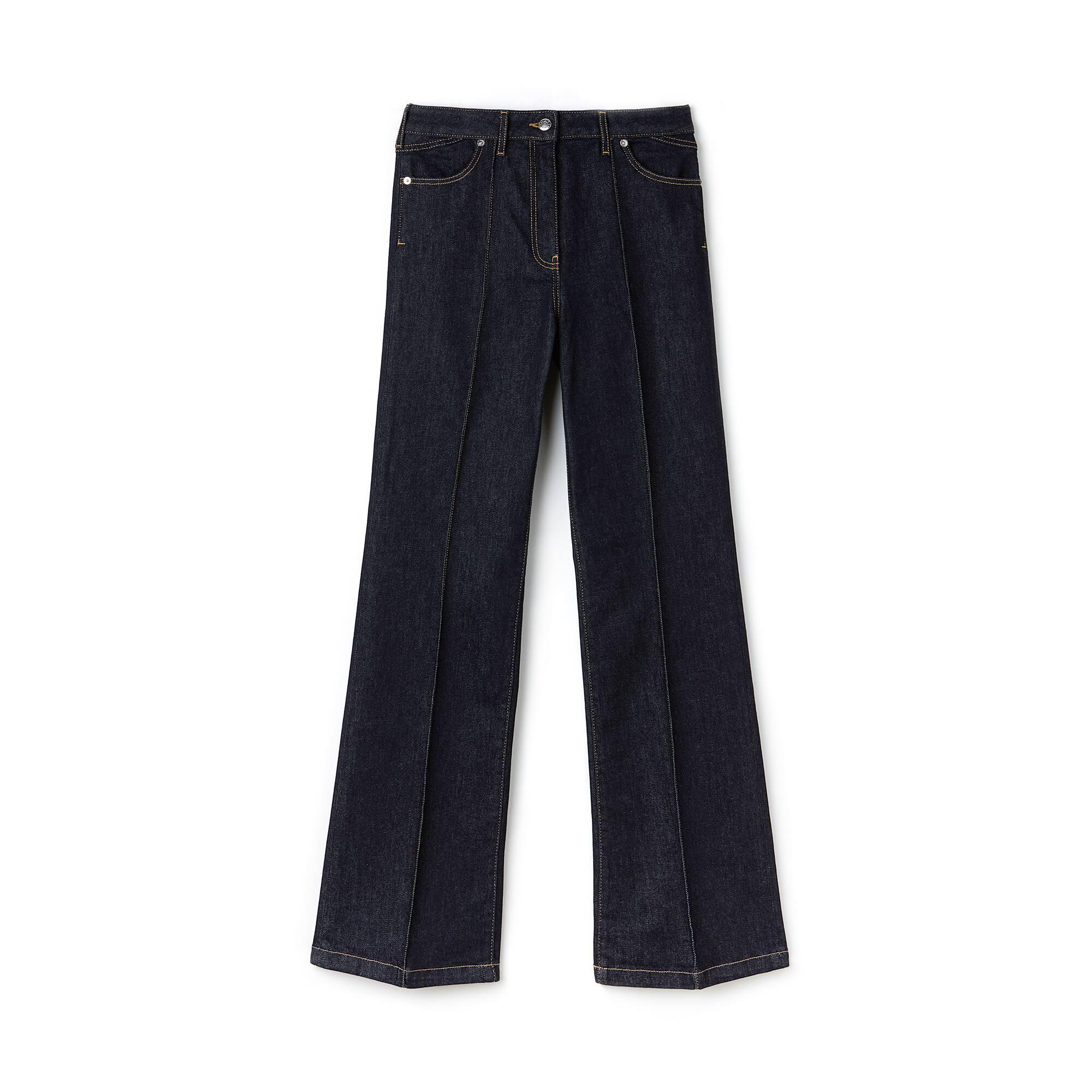 Jeans dames bootcut katoendenim met stretch