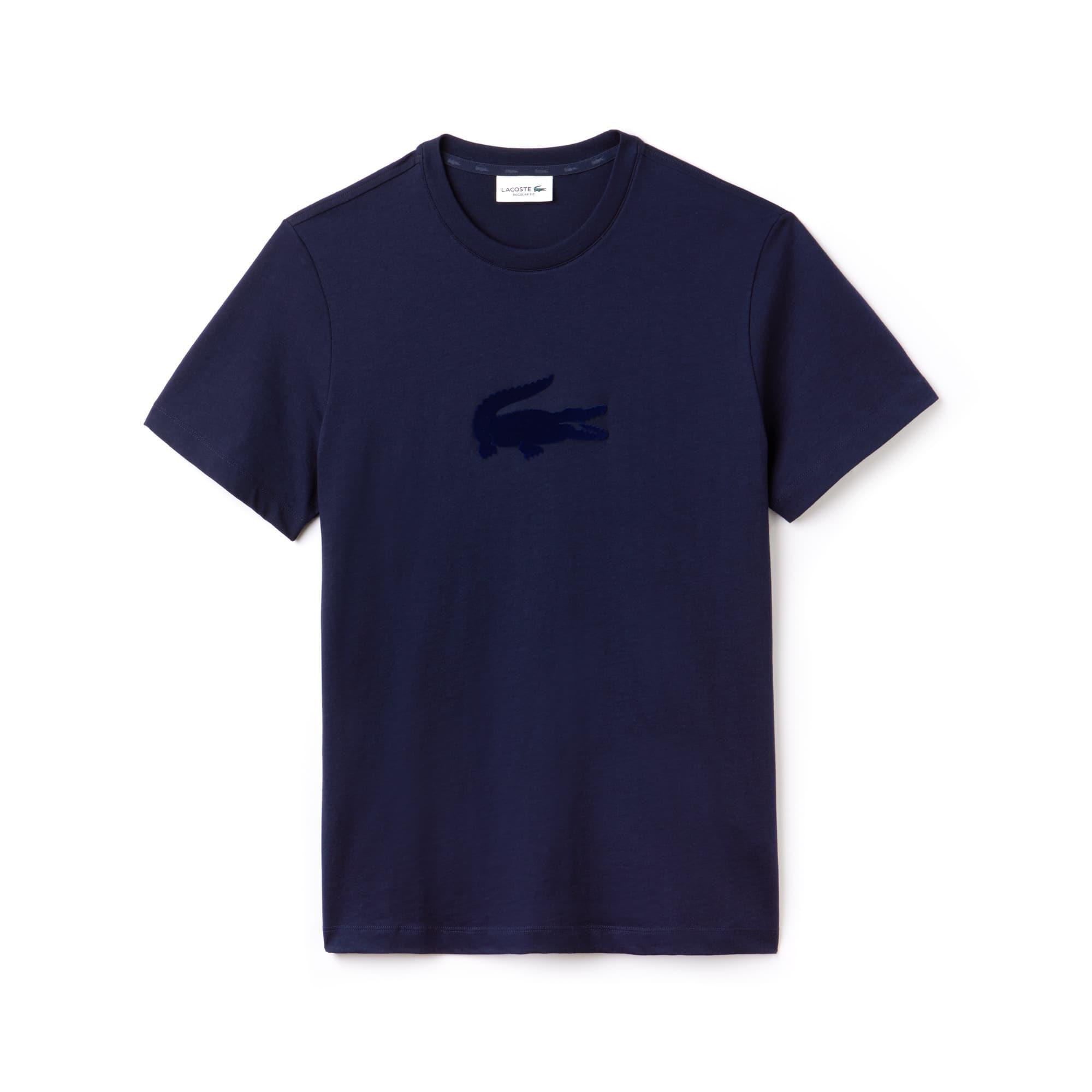 T-shirt heren ronde hals jersey oversized krokodil