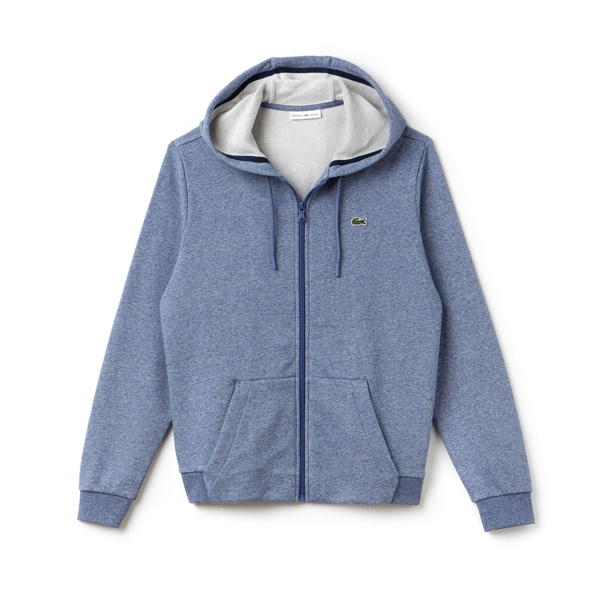 Tennis Lacoste SPORT sweater van molton met rits en capuchon