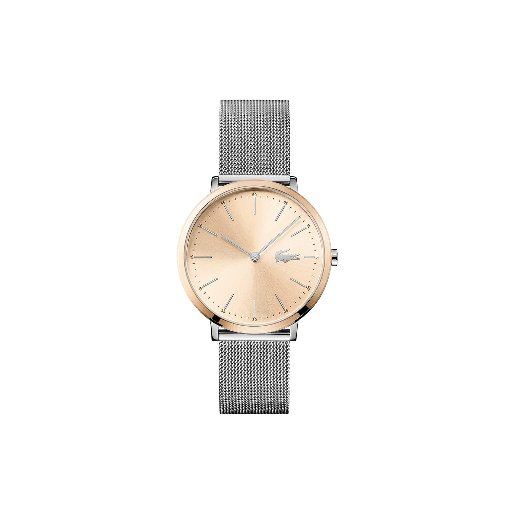 Vrouwen Moon Horloge met Zilveren Mesh Armband