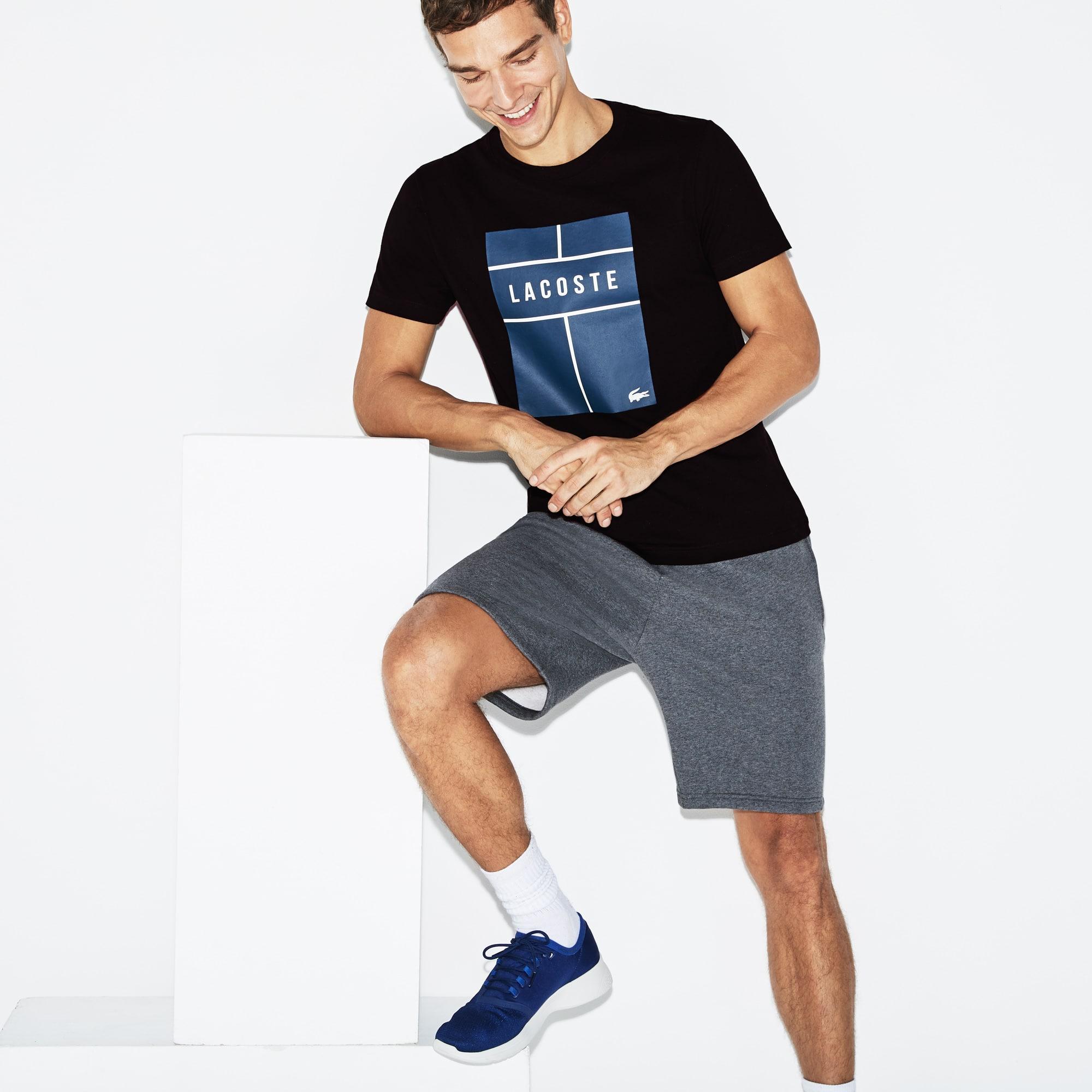 Lacoste SPORT Tennis-T-shirt heren jersey met ronde hals en letters
