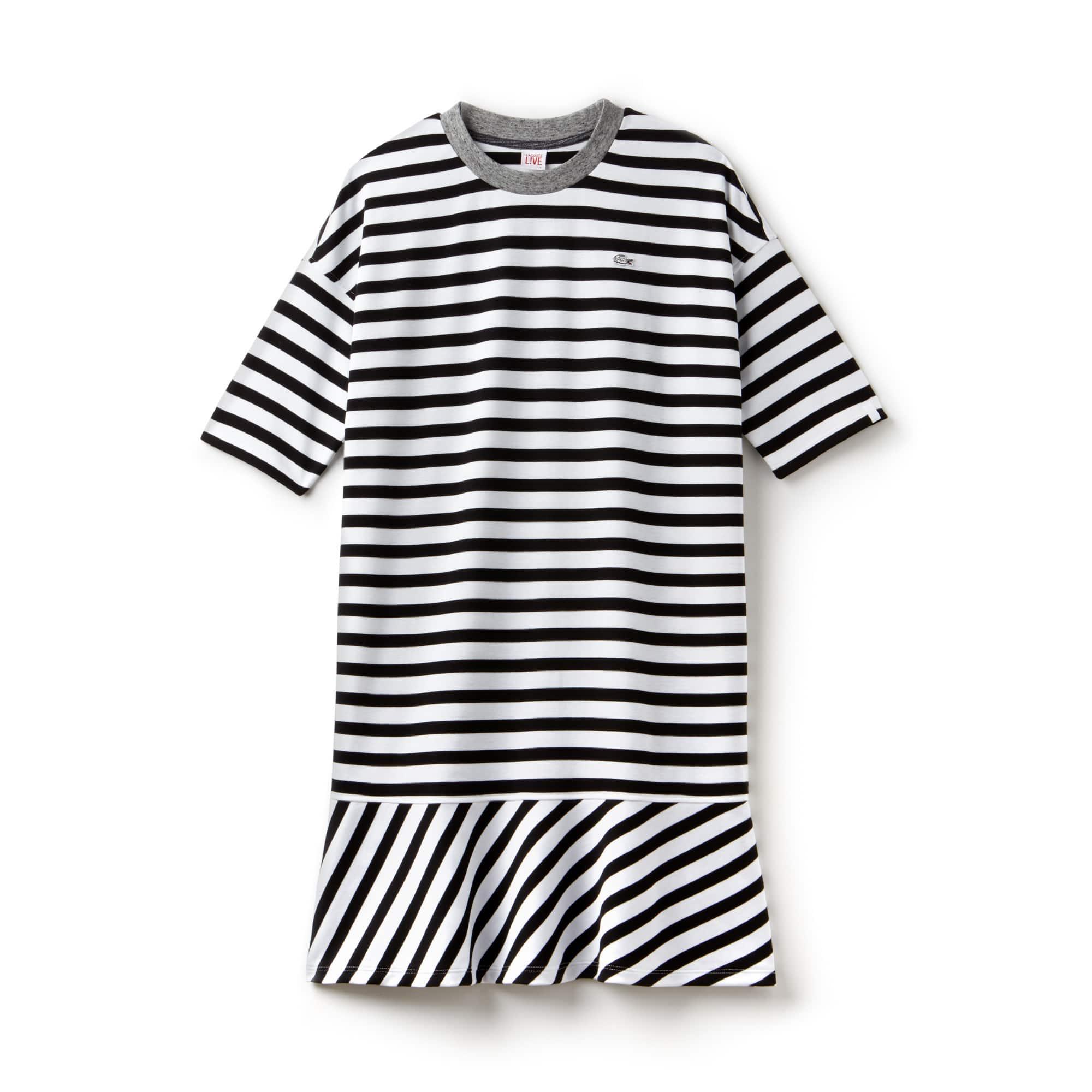 Lacoste LIVE-zeiljurk dames jersey met contrasterende afwerking