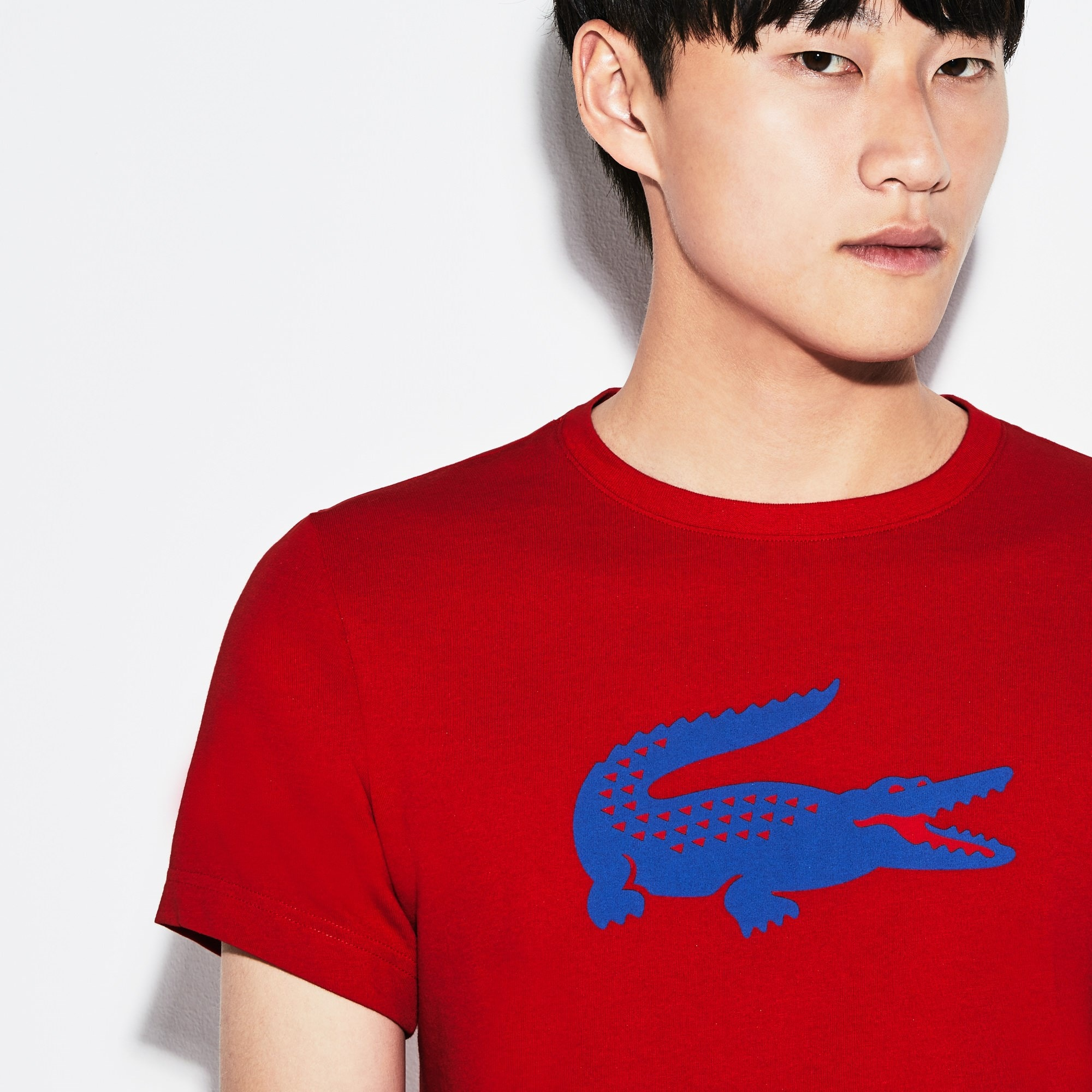 Lacoste SPORT tennisshirt van technisch jersey met oversized krokodil