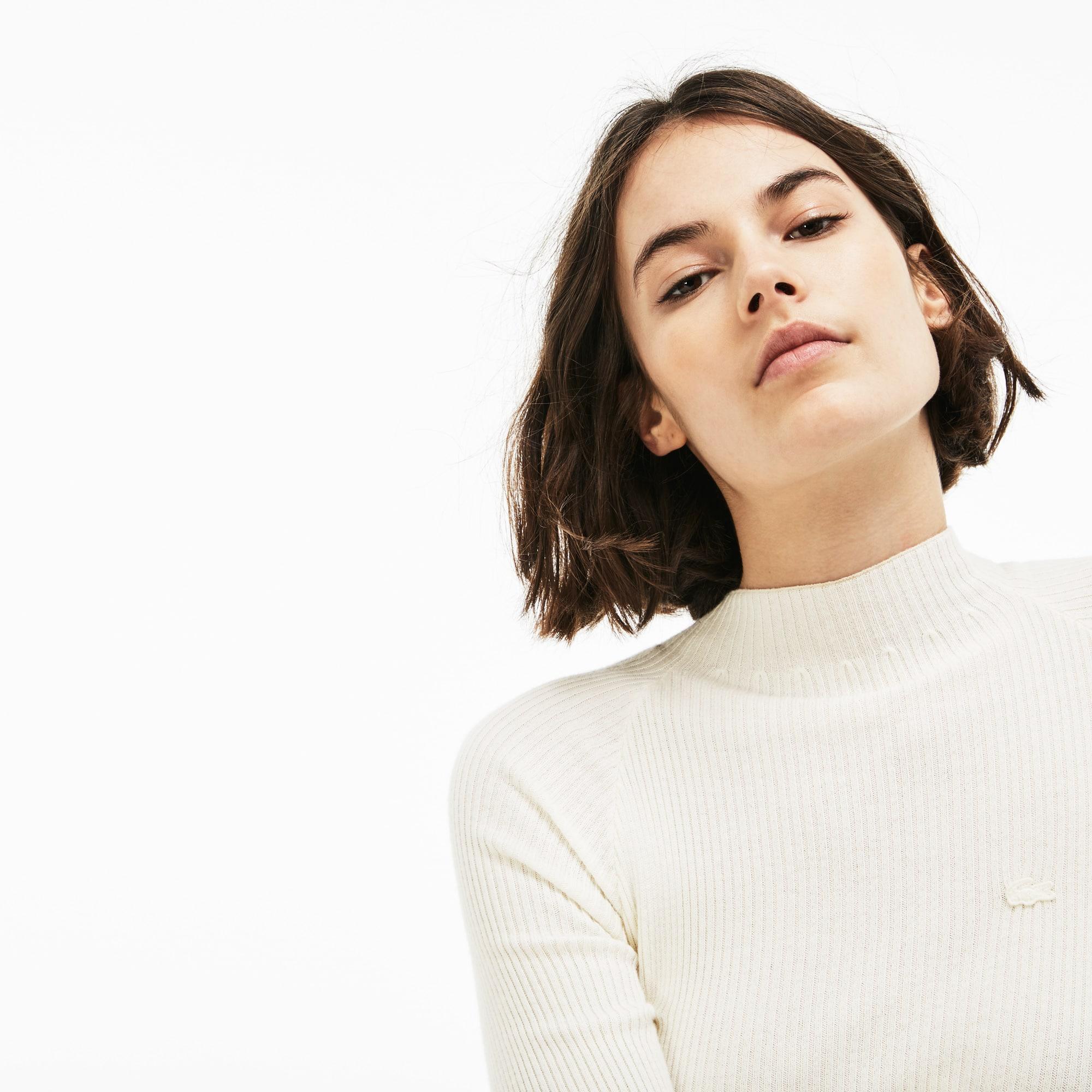 Lacoste LIVE-sweater dames geribd katoen en kasjmier
