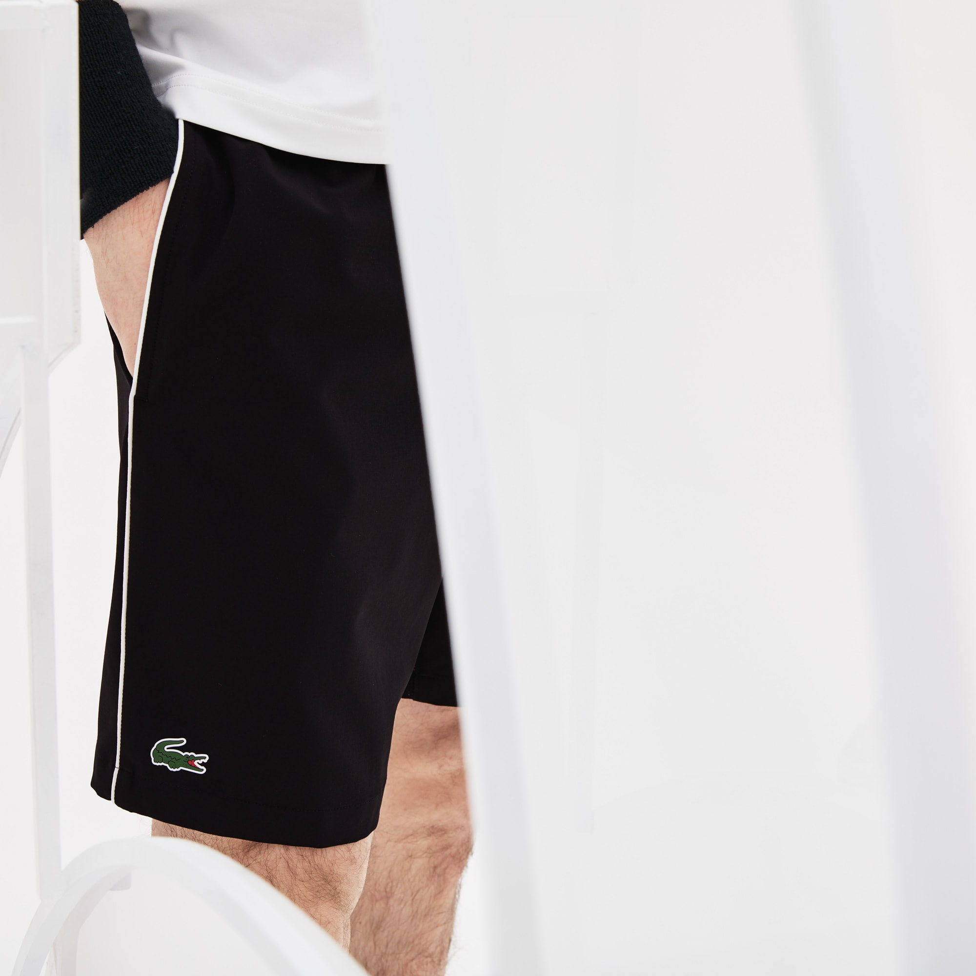 Korte Broek Heren C En A.Lacoste Sport Novak Djokovic Support With Style Collection Korte