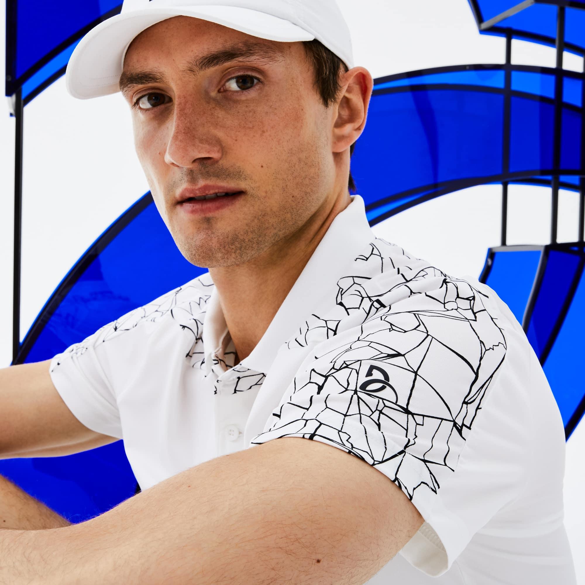 Polo Lacoste SPORT coleção Novak Djokovic - Off Court em jersey stretch técnico