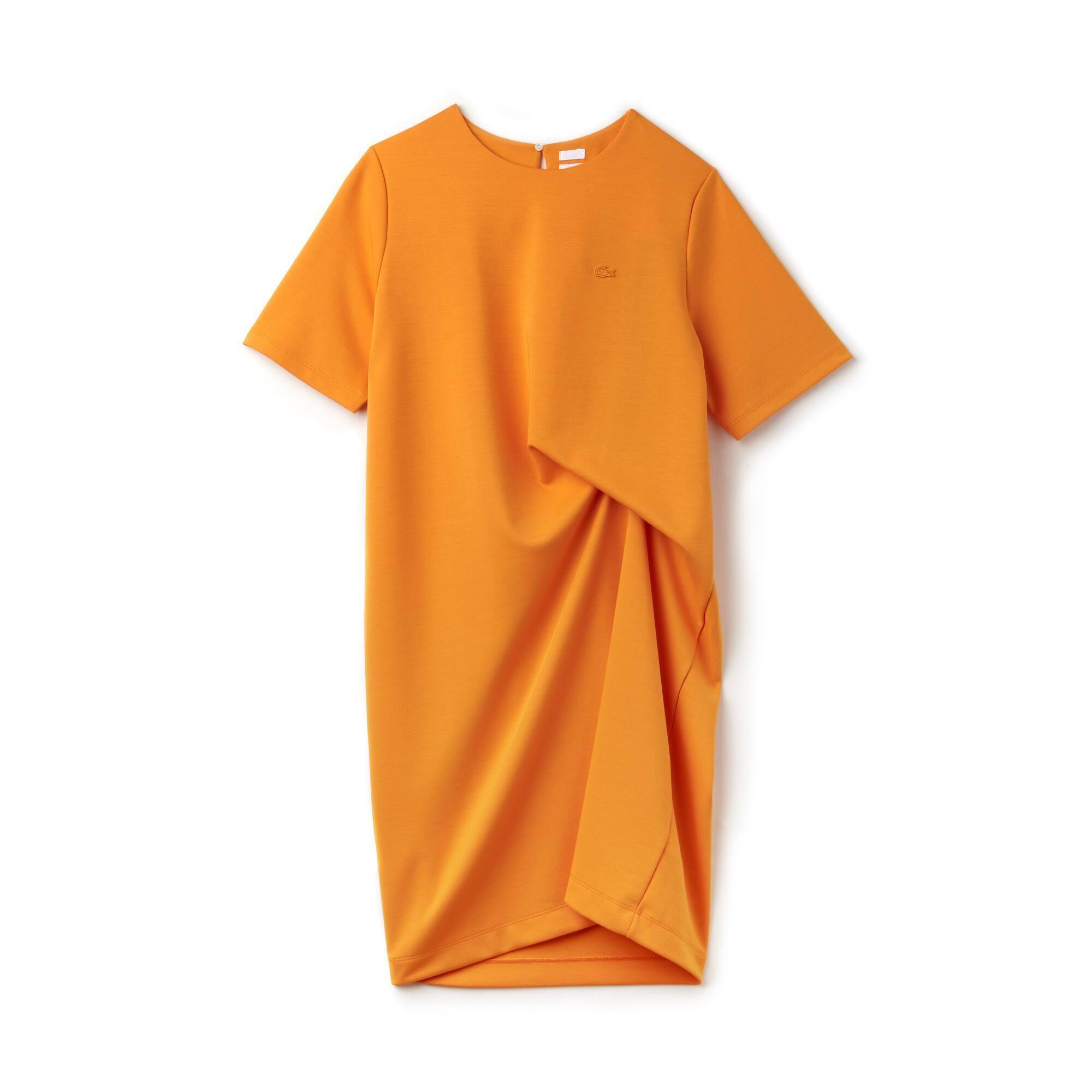 Vestido assimétrico Lacoste LIVE em jersey de algodão unicolor
