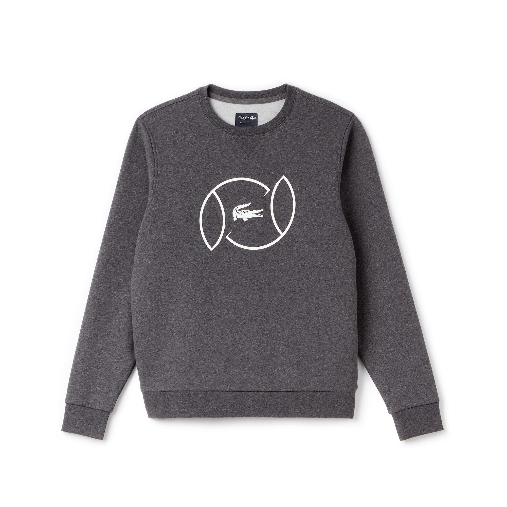 Sweatshirt decote redondo Tennis Lacoste SPORT em moletão com marcação