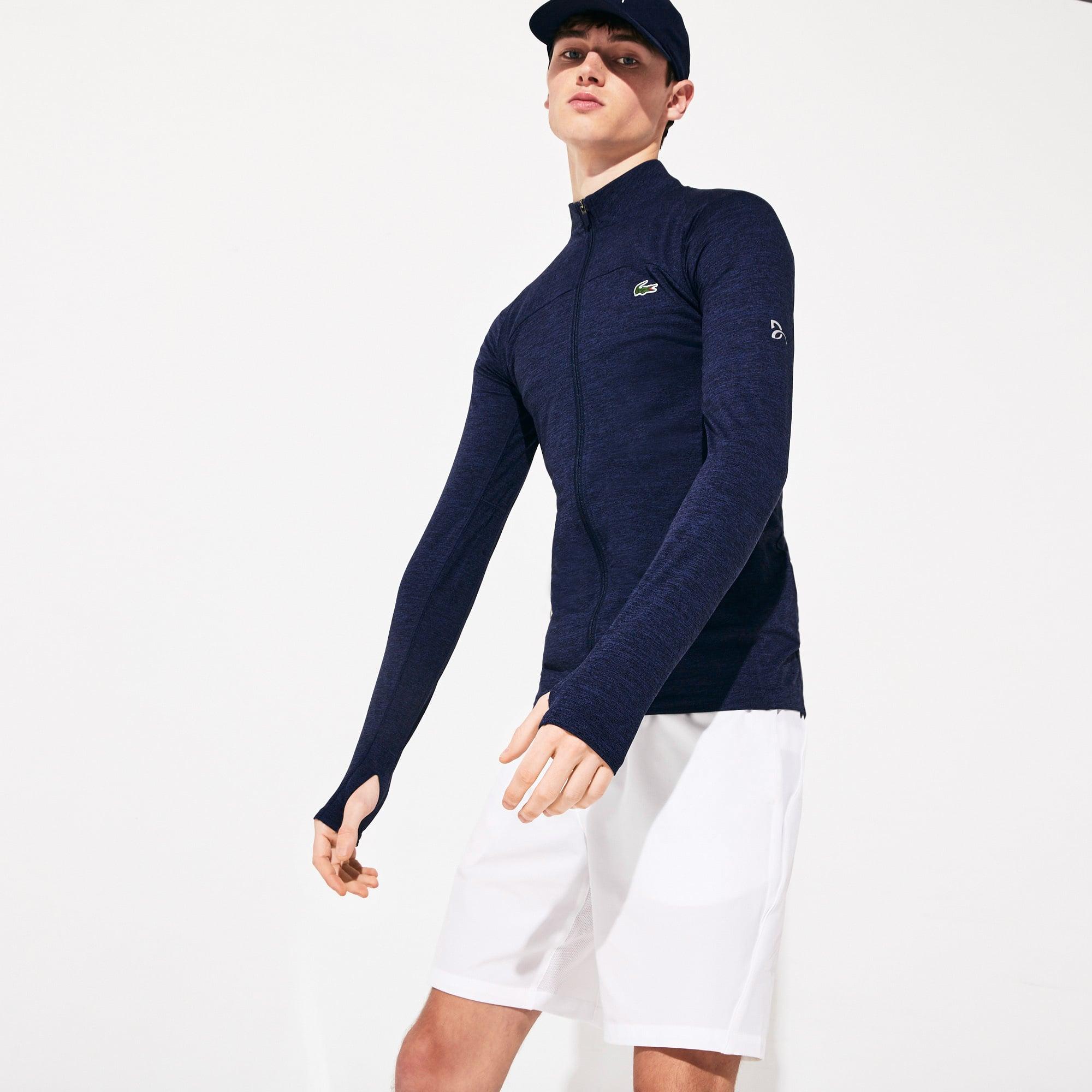 Blusão com zip stretch da coleção Novak Djokovic x Lacoste SPORT para homem