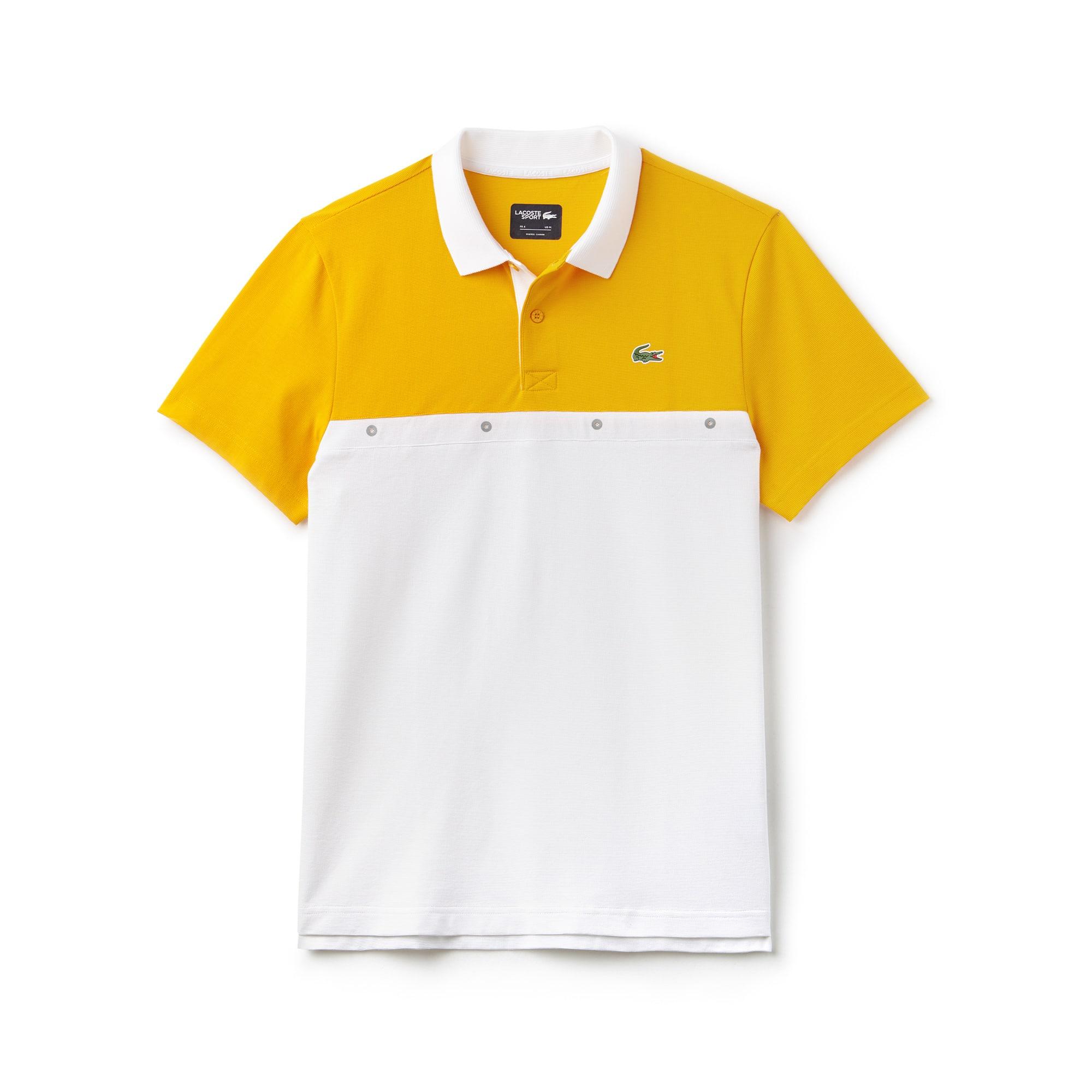 Polo Tennis Lacoste SPORT em malha de algodão color block