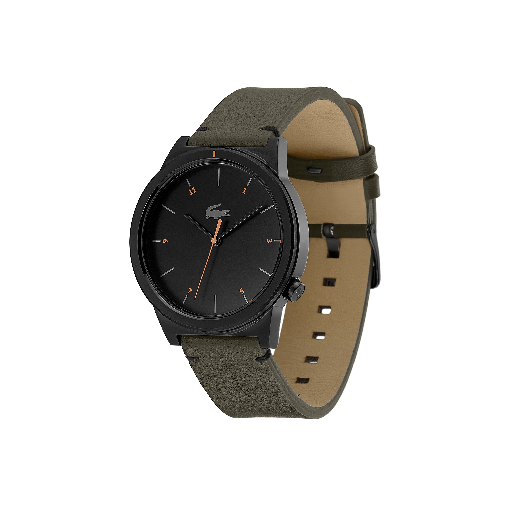 Relógio Motion de homem com bracelete de pele caqui