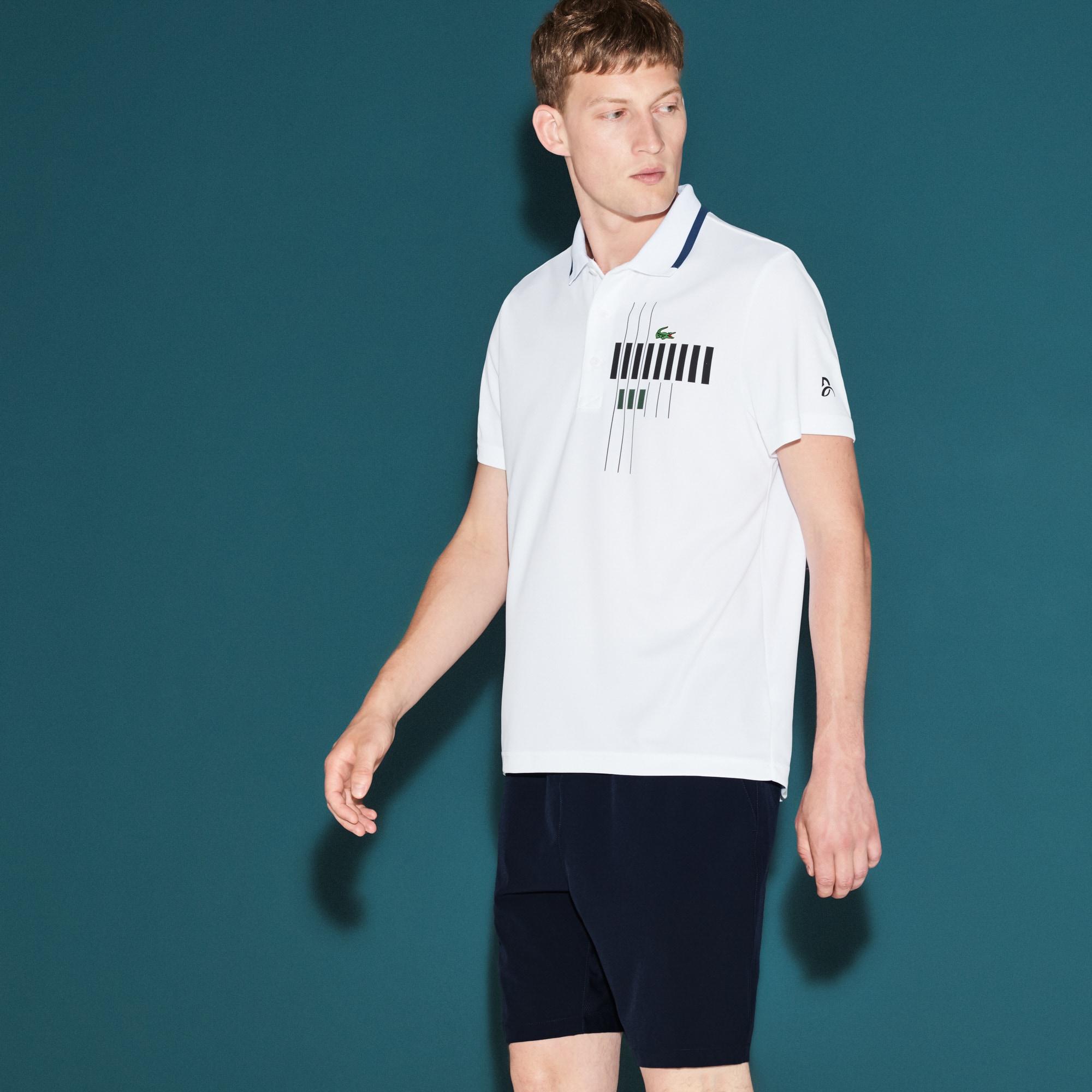 Pólo Lacoste da Coleção Novak Djokovic -  Exclusive Blue Edition