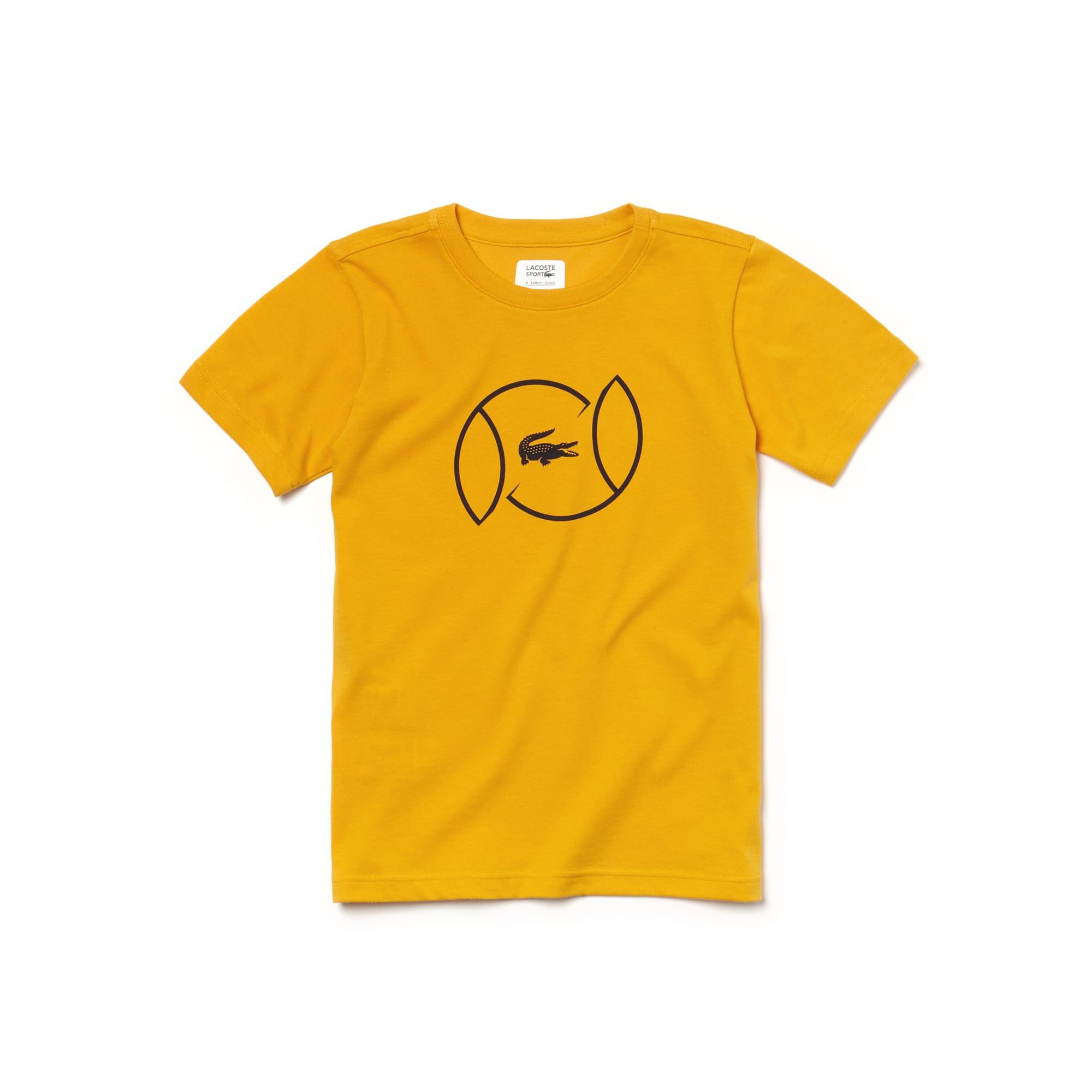 T-shirt Menino Tennis Lacoste SPORT em jersey técnico com marcação
