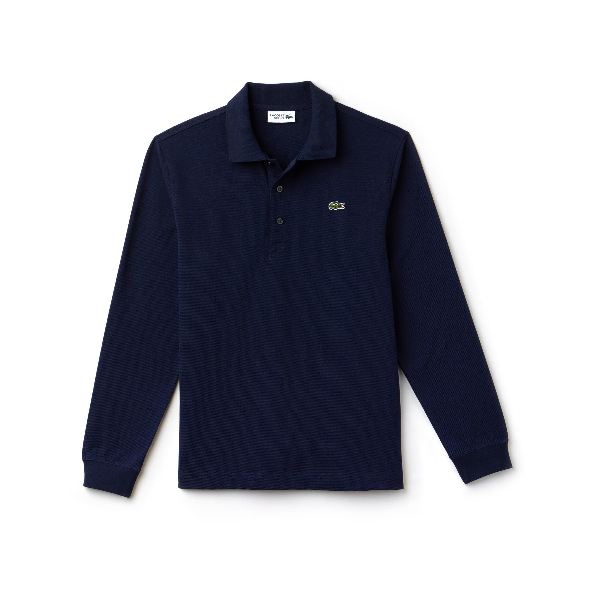 Polo de manga comprida Tennis Lacoste SPORT em algodão superleve