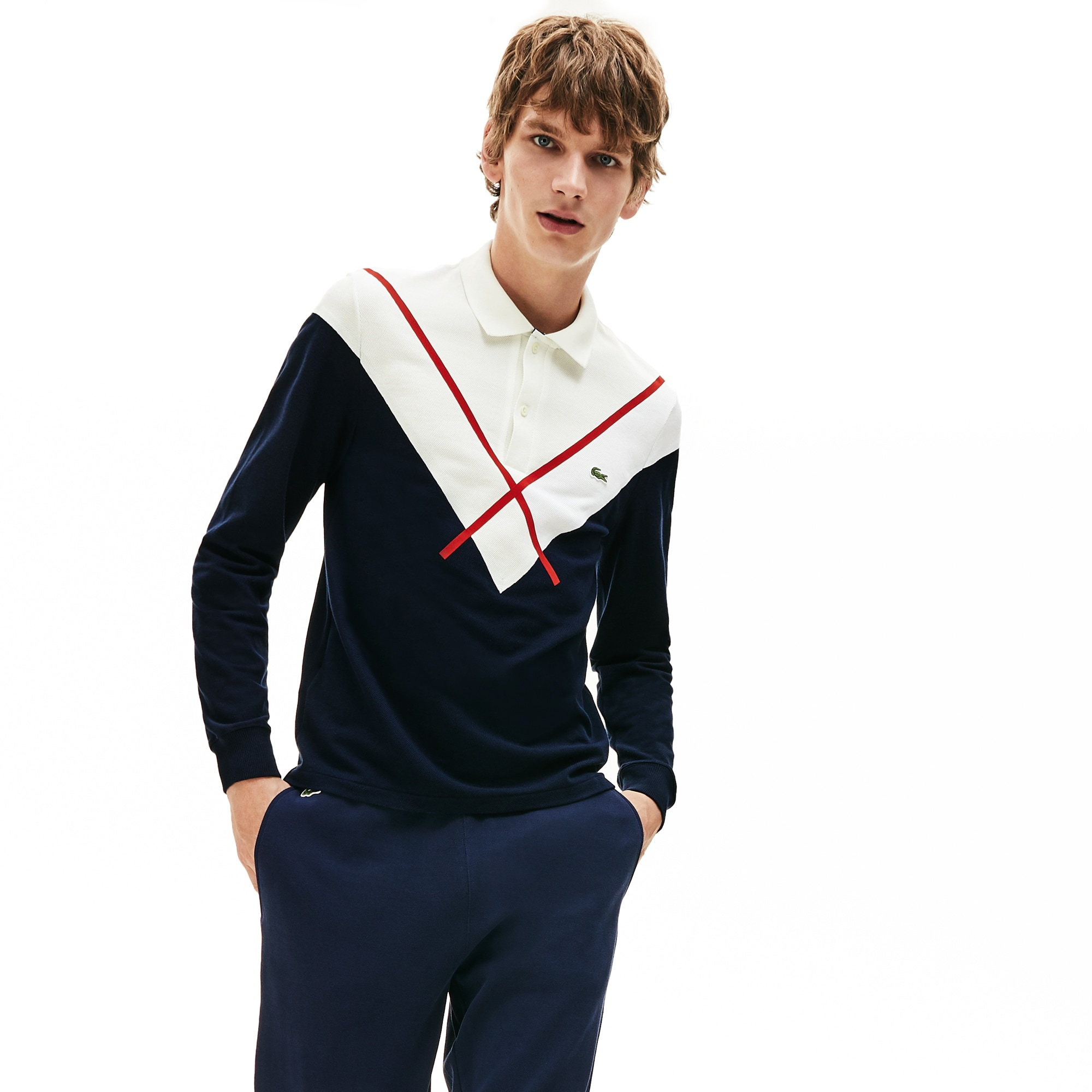 Polo regular fit Lacoste Made In France para homem