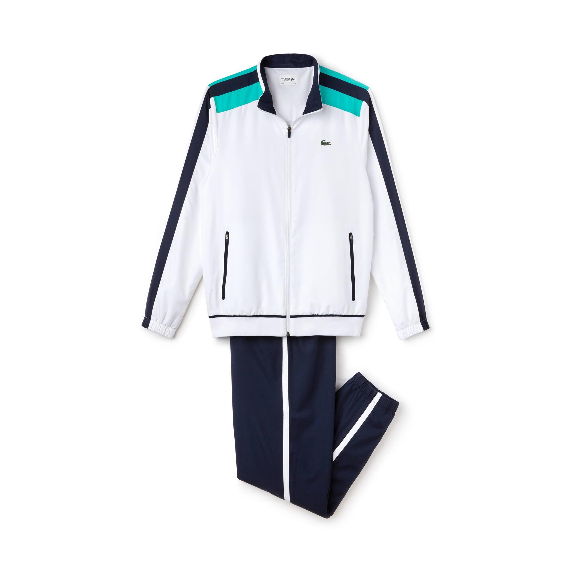Fato de treino Tennis Lacoste SPORT em tafetá com faixas a contrastar