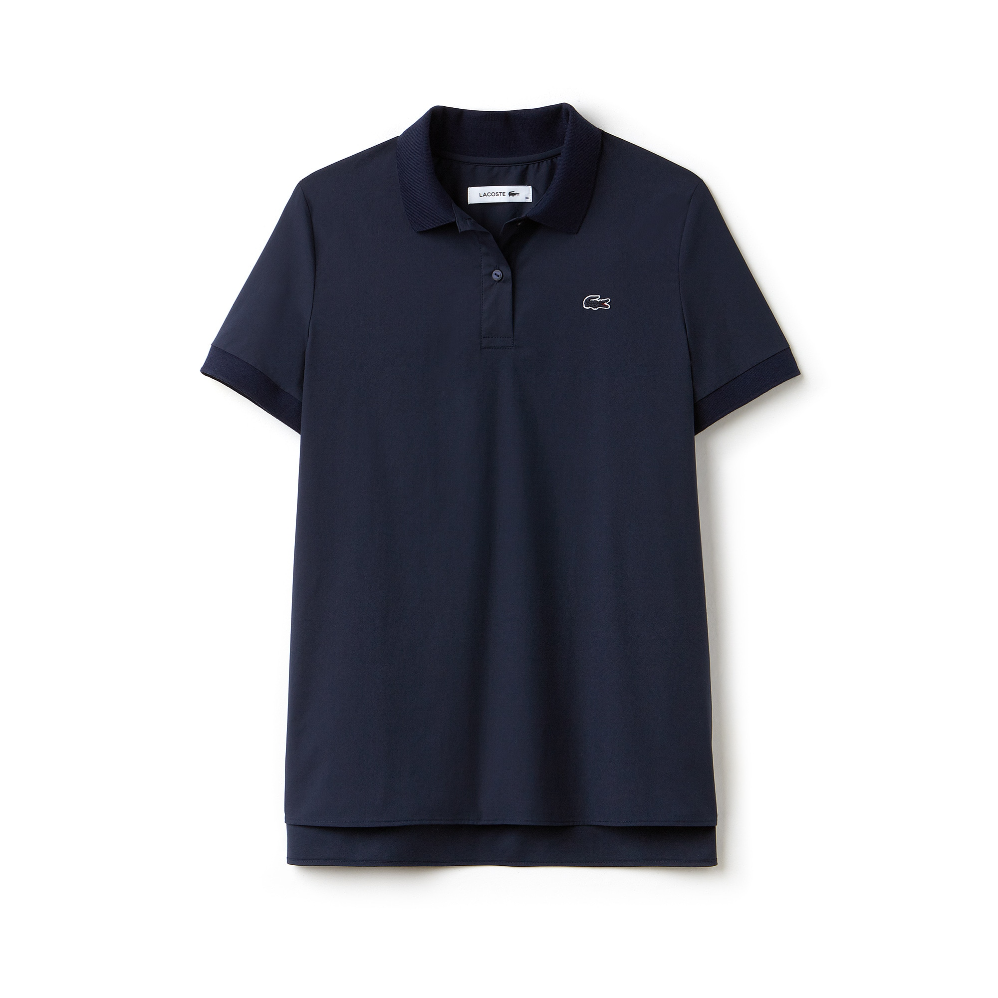 Polo regular fit Lacoste em popelina stretch