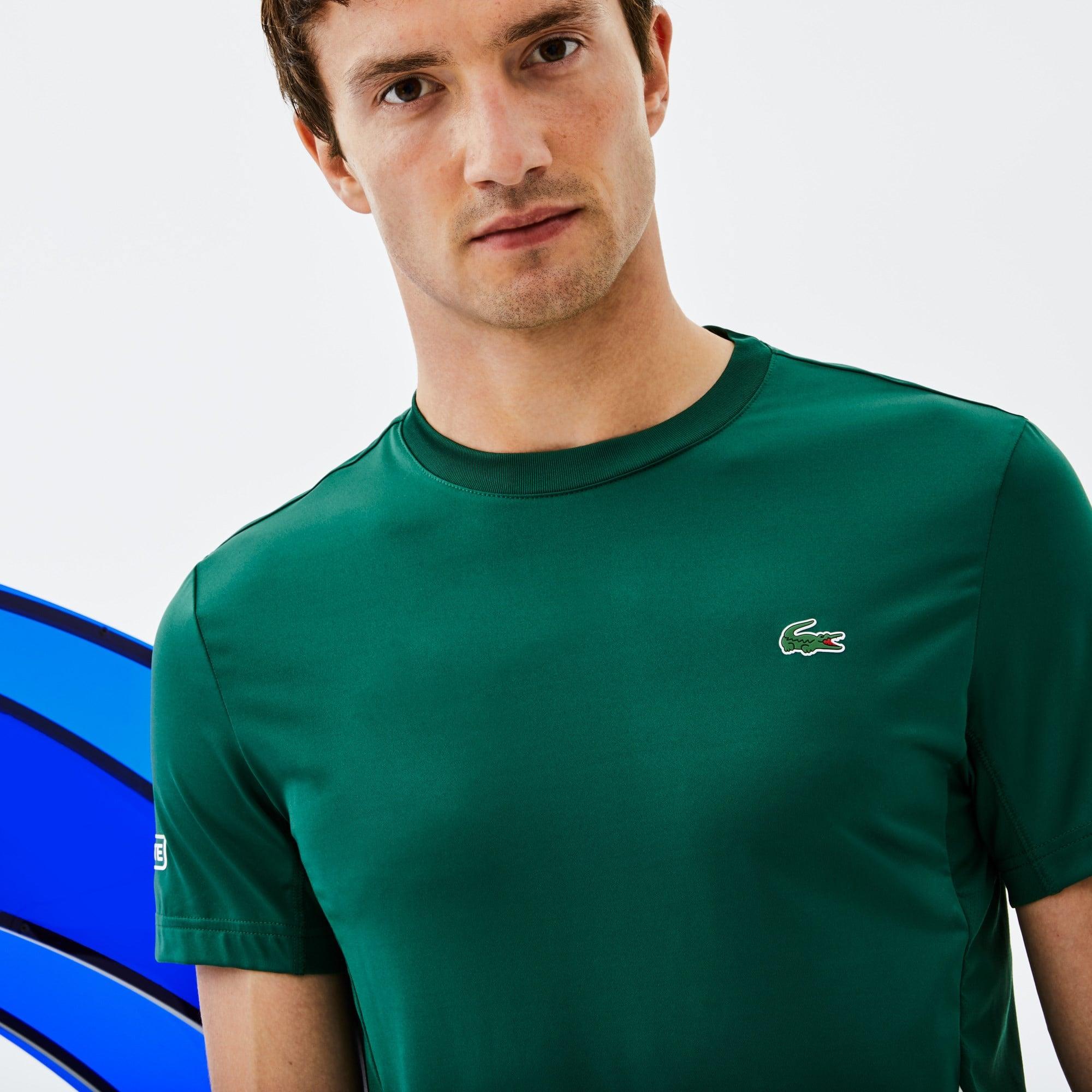 T-shirt de decote redondo Lacoste SPORT coleção Novak Djokovic - Off Court em jersey técnico stretch
