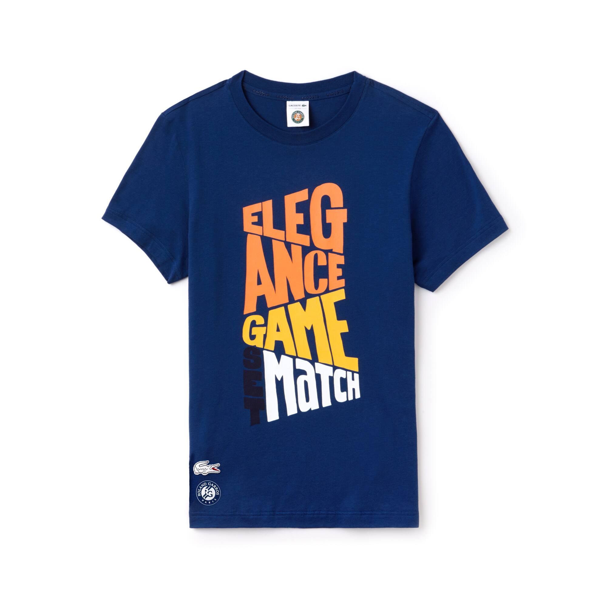 T-shirt Lacoste SPORT em algodão com marcação Edição Roland Garros