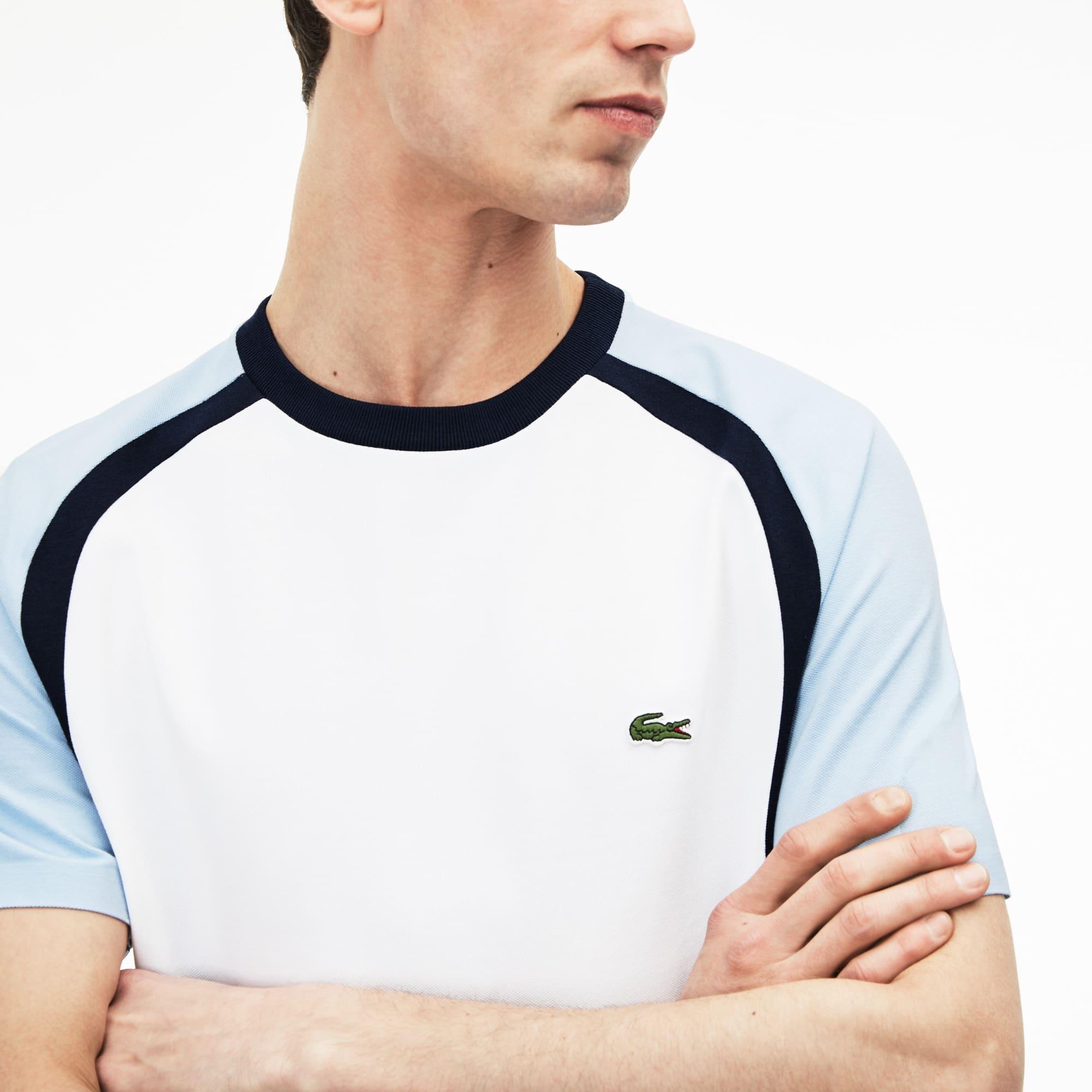 T-shirt decote redondo Made in France em piqué técnico