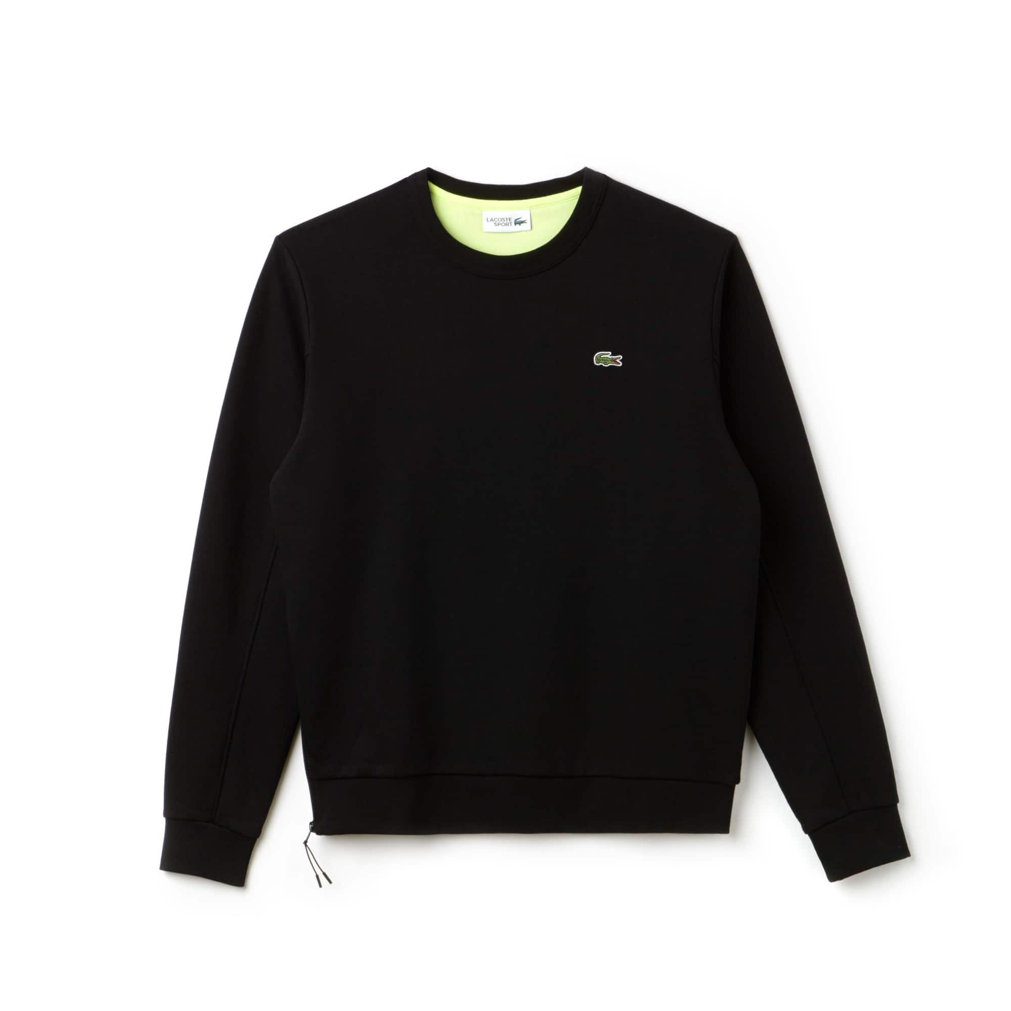 Sweatshirt Tennis Lacoste SPORT em moletão com fecho de correr lateral