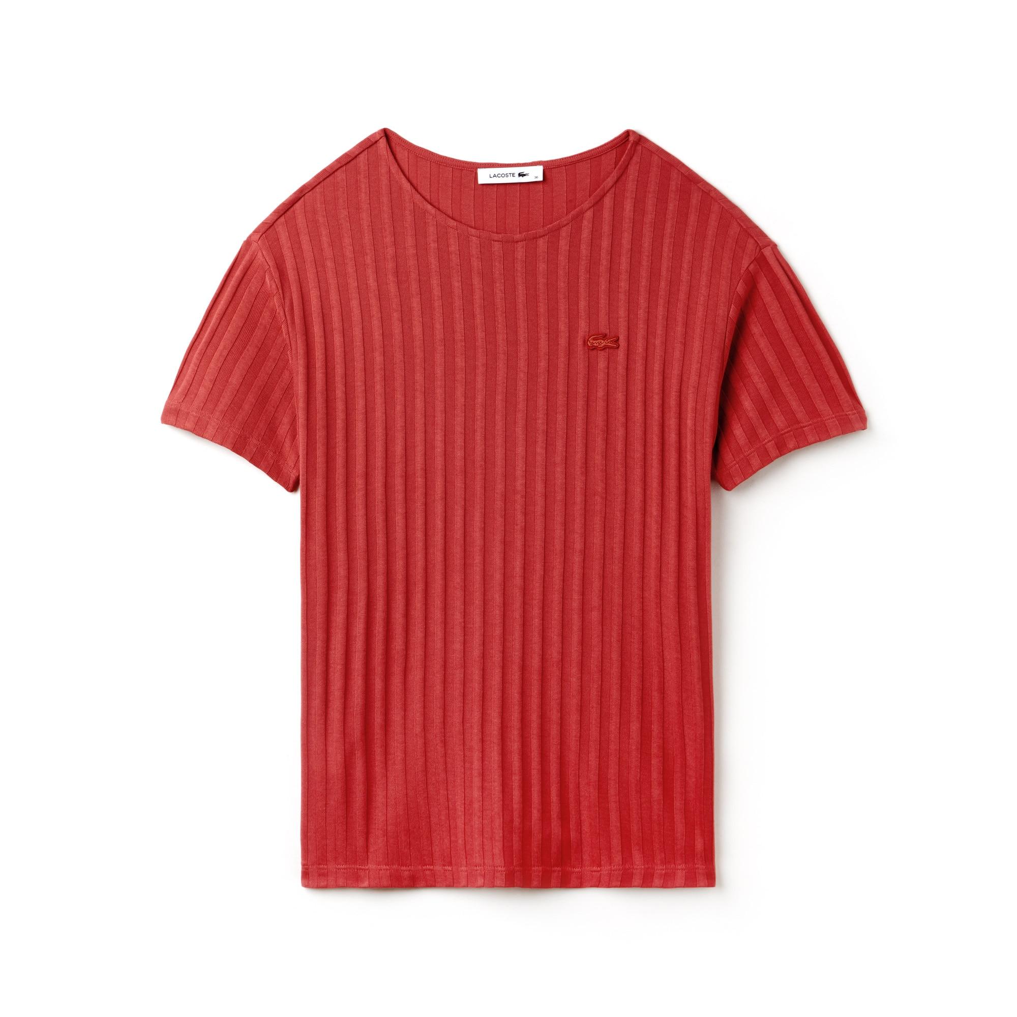 T-shirt com decote largo de manga comprida em jersey rayon